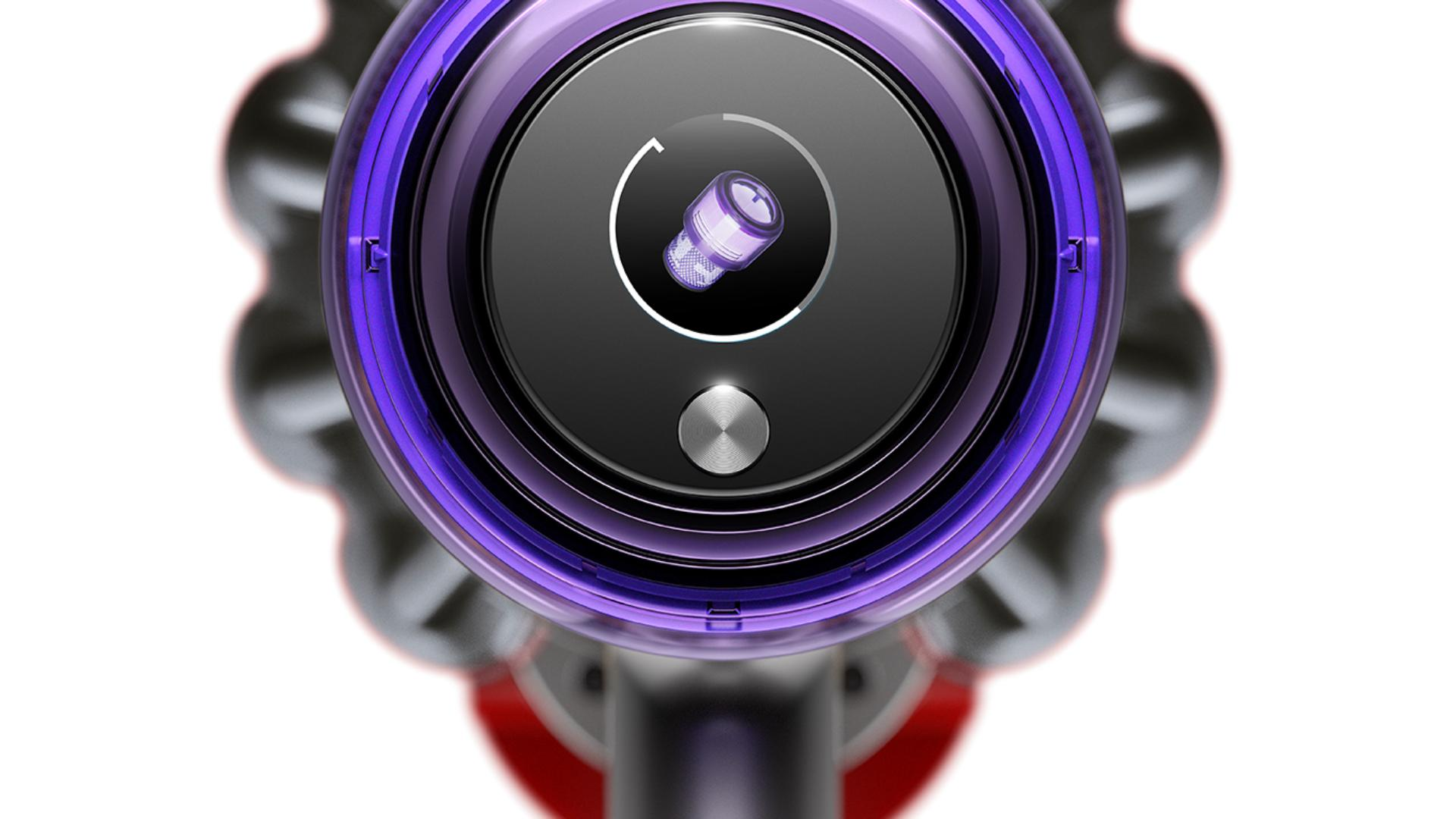 Dyson V11™ vacuum screen showing maintenance alert