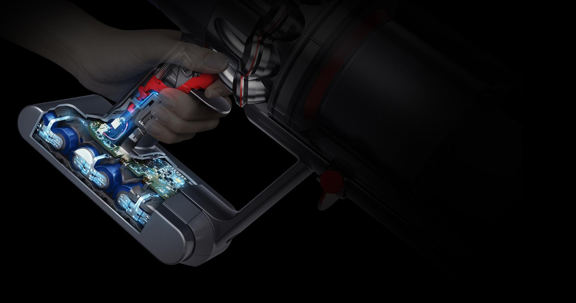 صورة بالأشعة السينية لنظام إدارة البطارية الفريد من دايسون