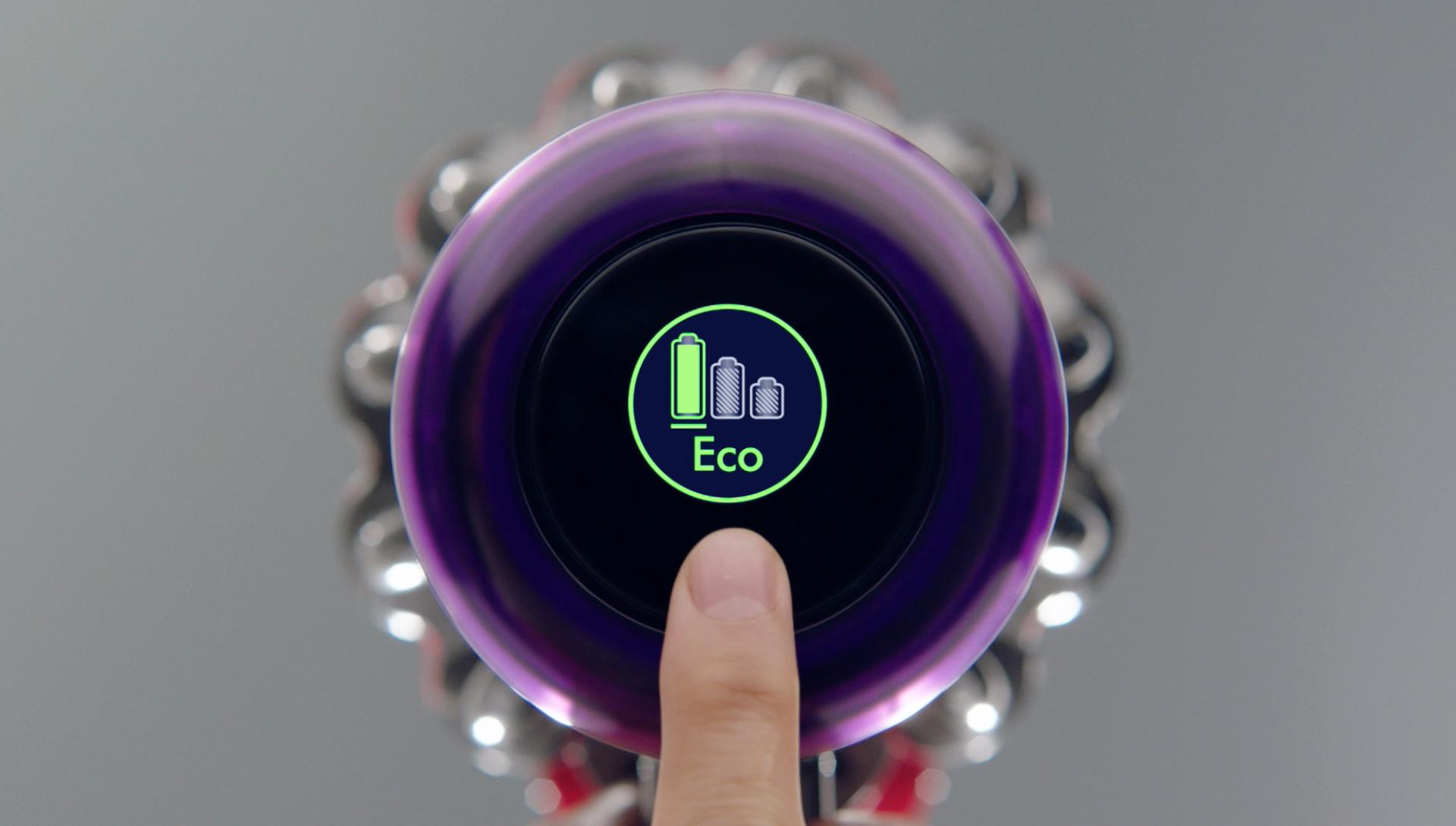 Close up of Dyson V11 LCD screen