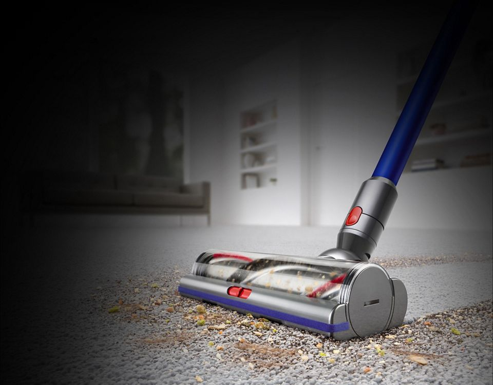 Dyson vacuum cleaner head on carpet