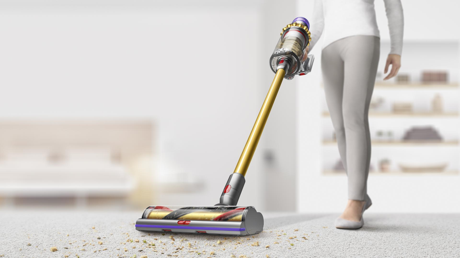High Torque XL cleaner head moving from hard floor to carpet