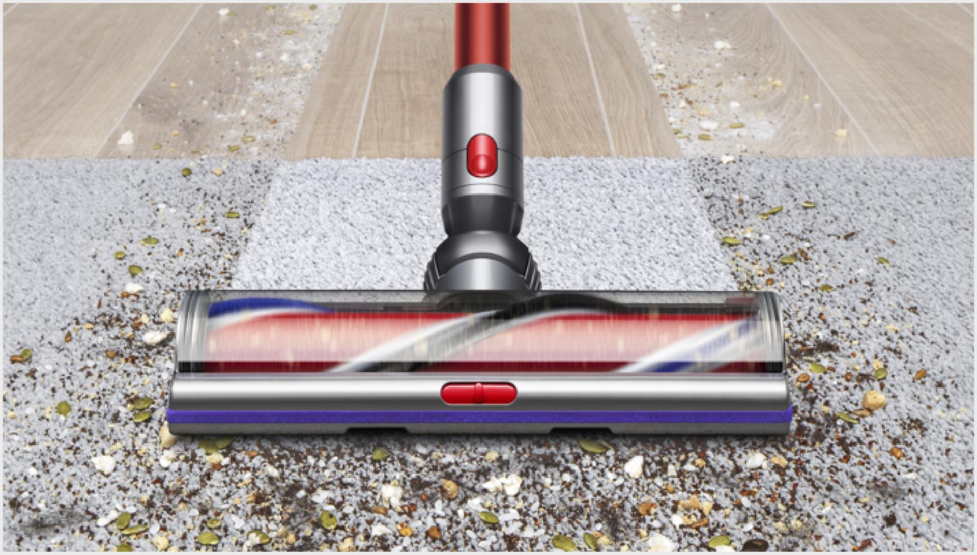 Podlahová hubice High Torque pohybující se z hladké podlahy na koberec
