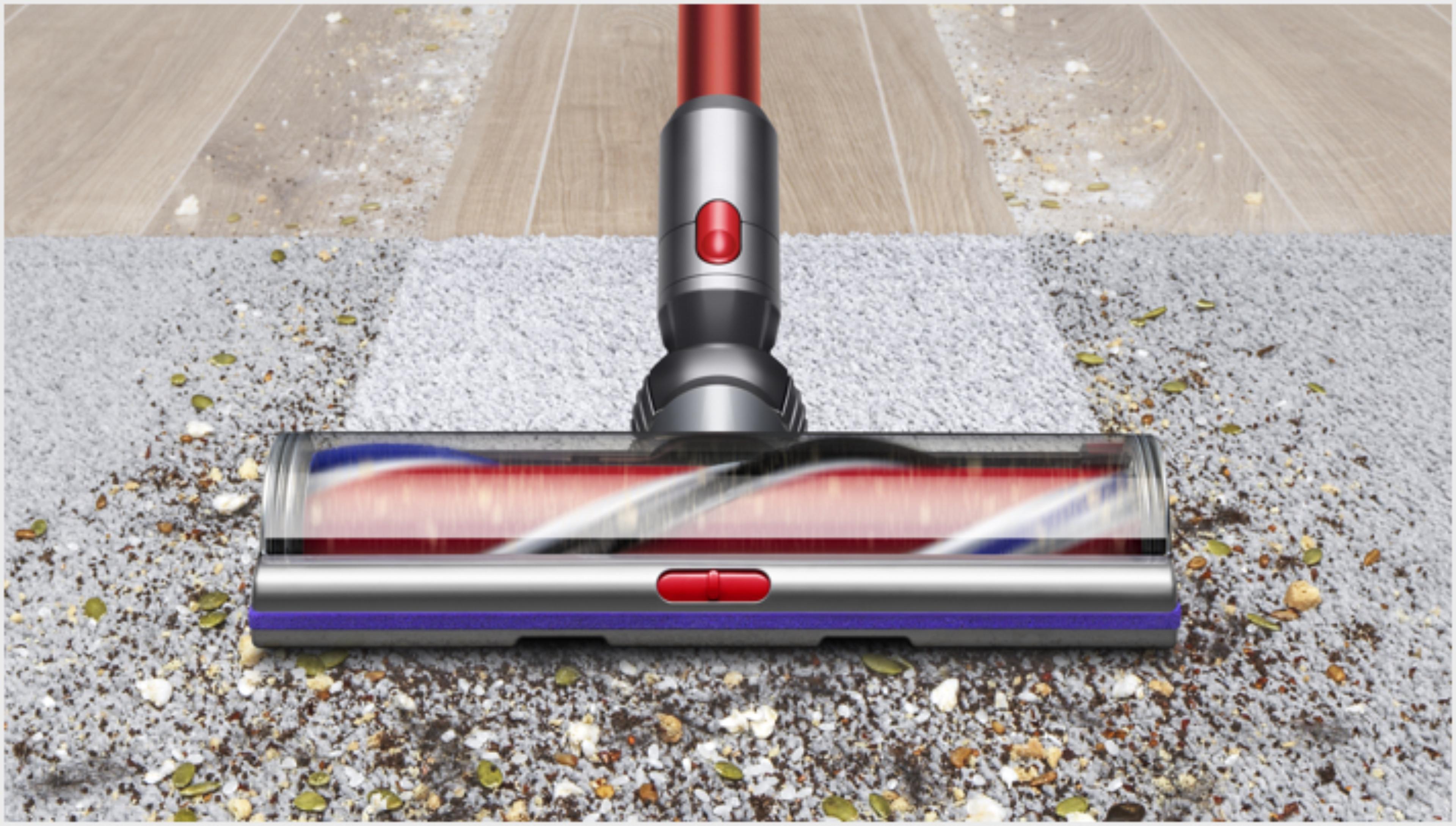 Cabezal High Torque XL pasando del piso duro a la alfombra