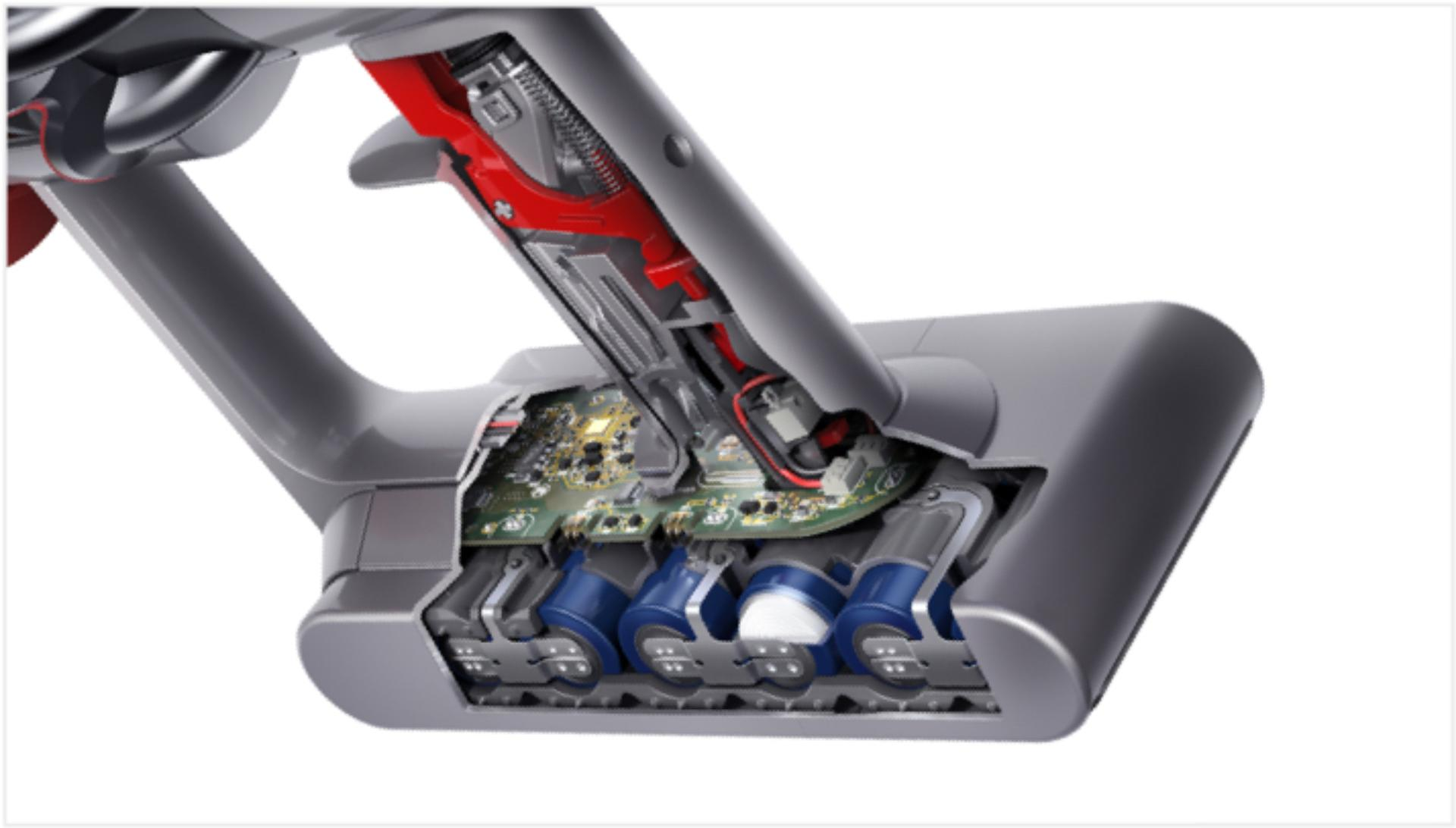 Cutaway of Dyson V11 Outsize vacuum battery pack