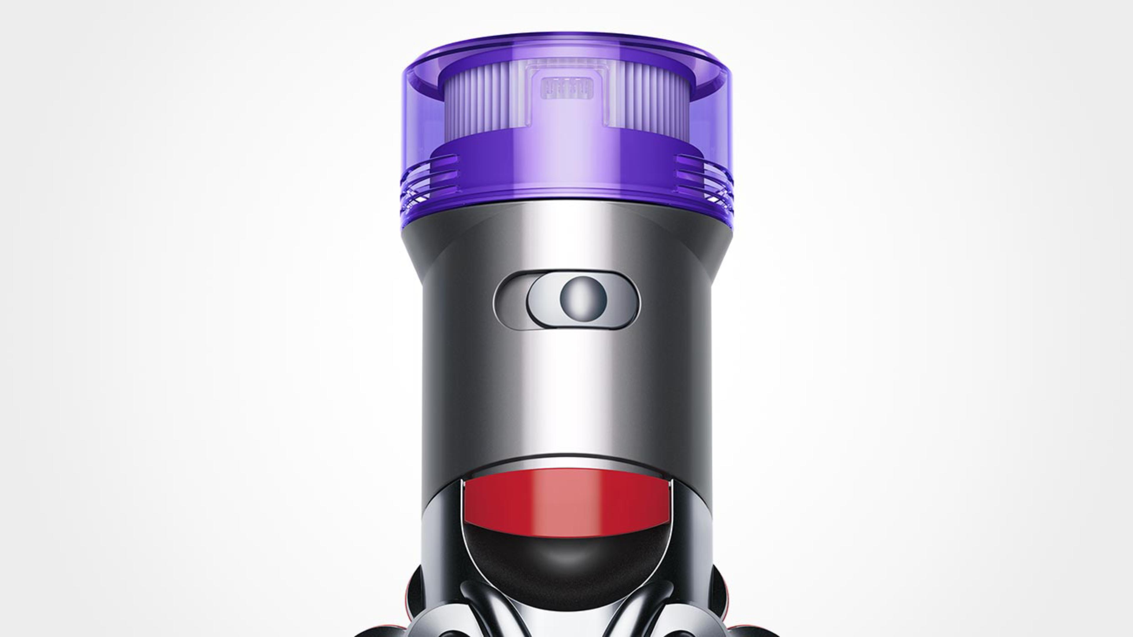The Dyson V8™ vacuum's power mode switch