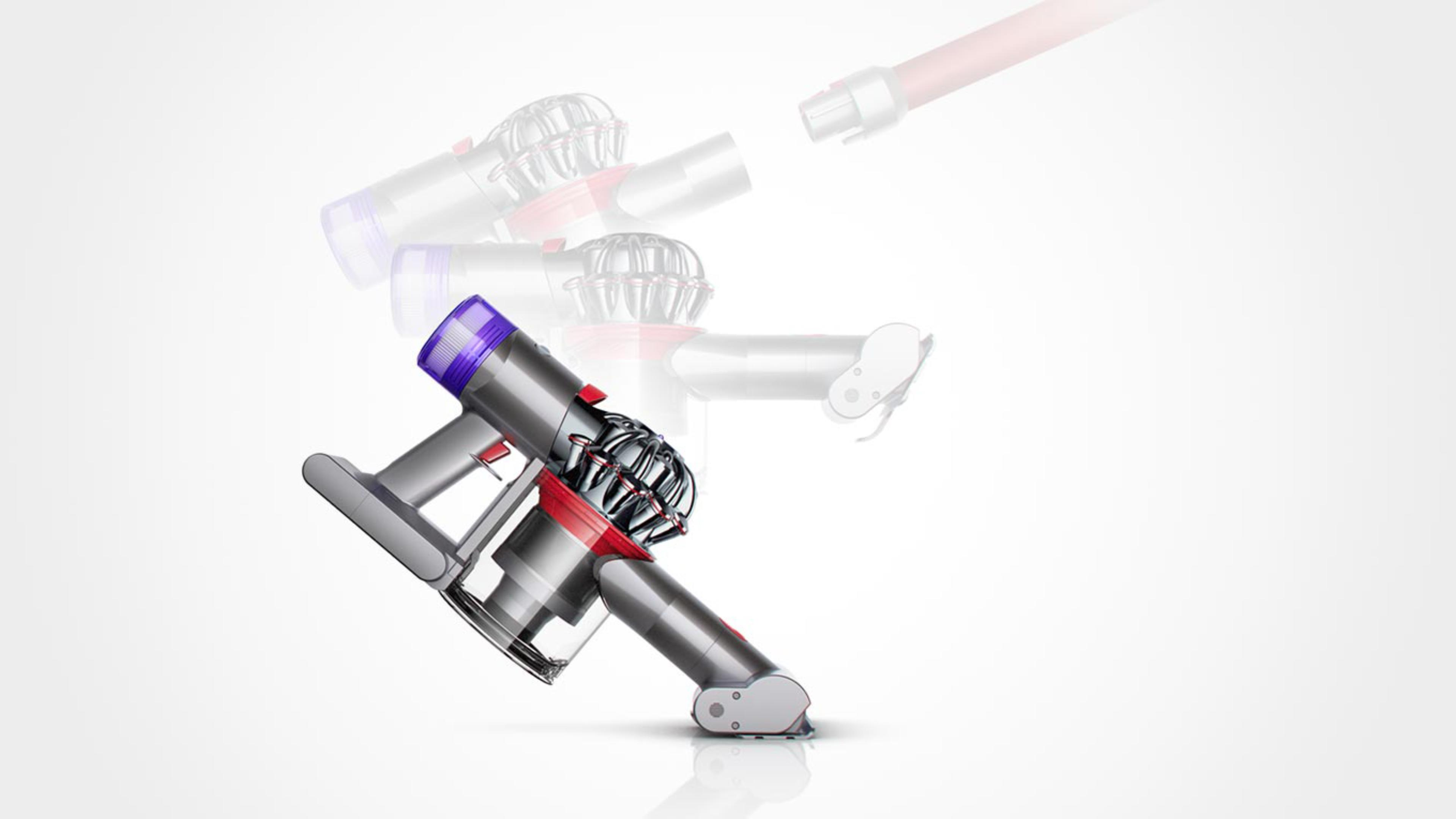 The Dyson V8™ vacuum used as a handheld