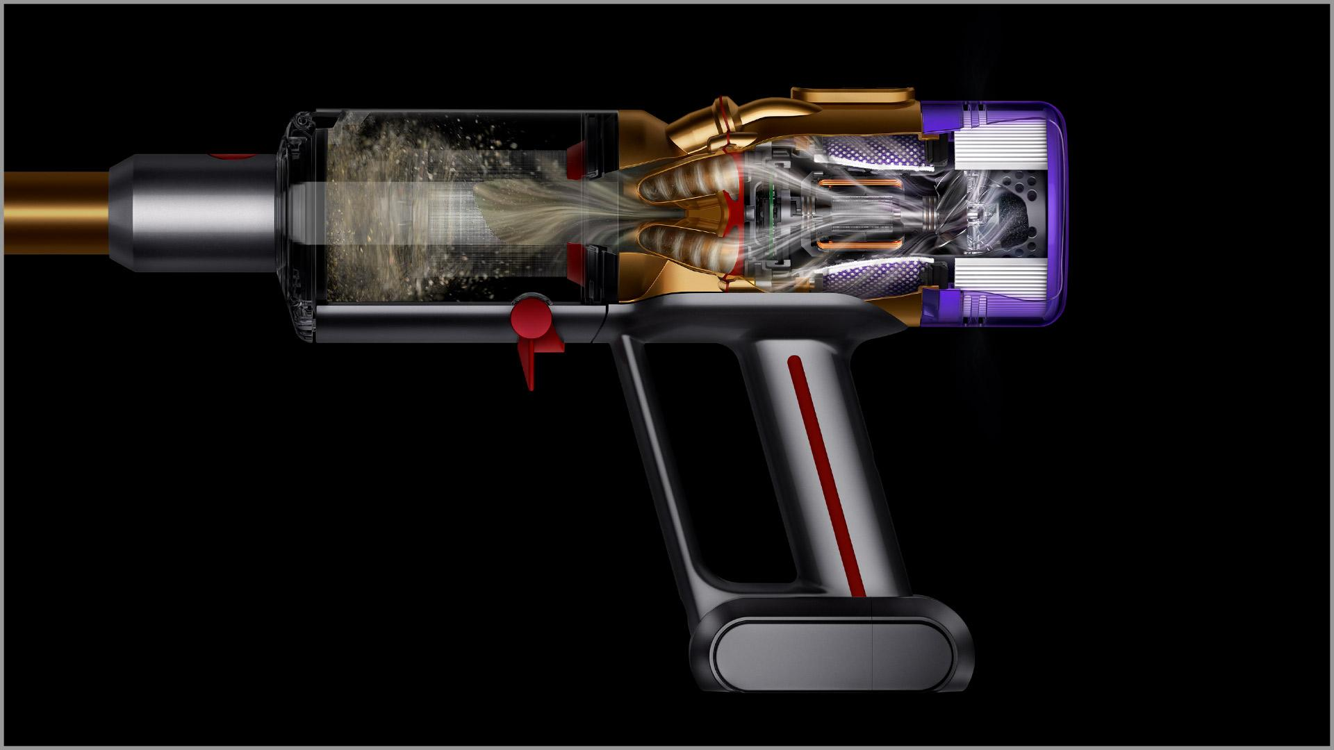 Cutaway of Dyson filter expelling cleaner air