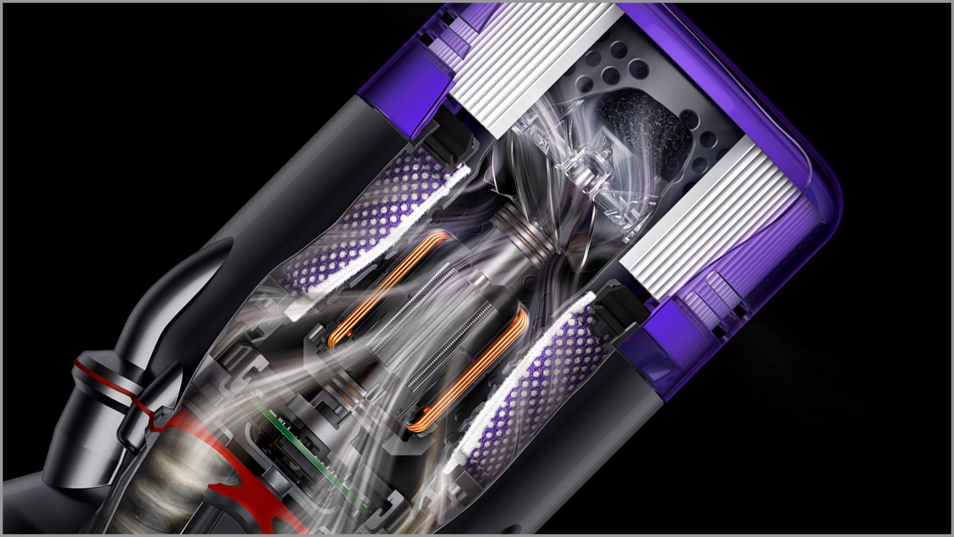 Dyson Hyperdymium™摩打的剖面圖