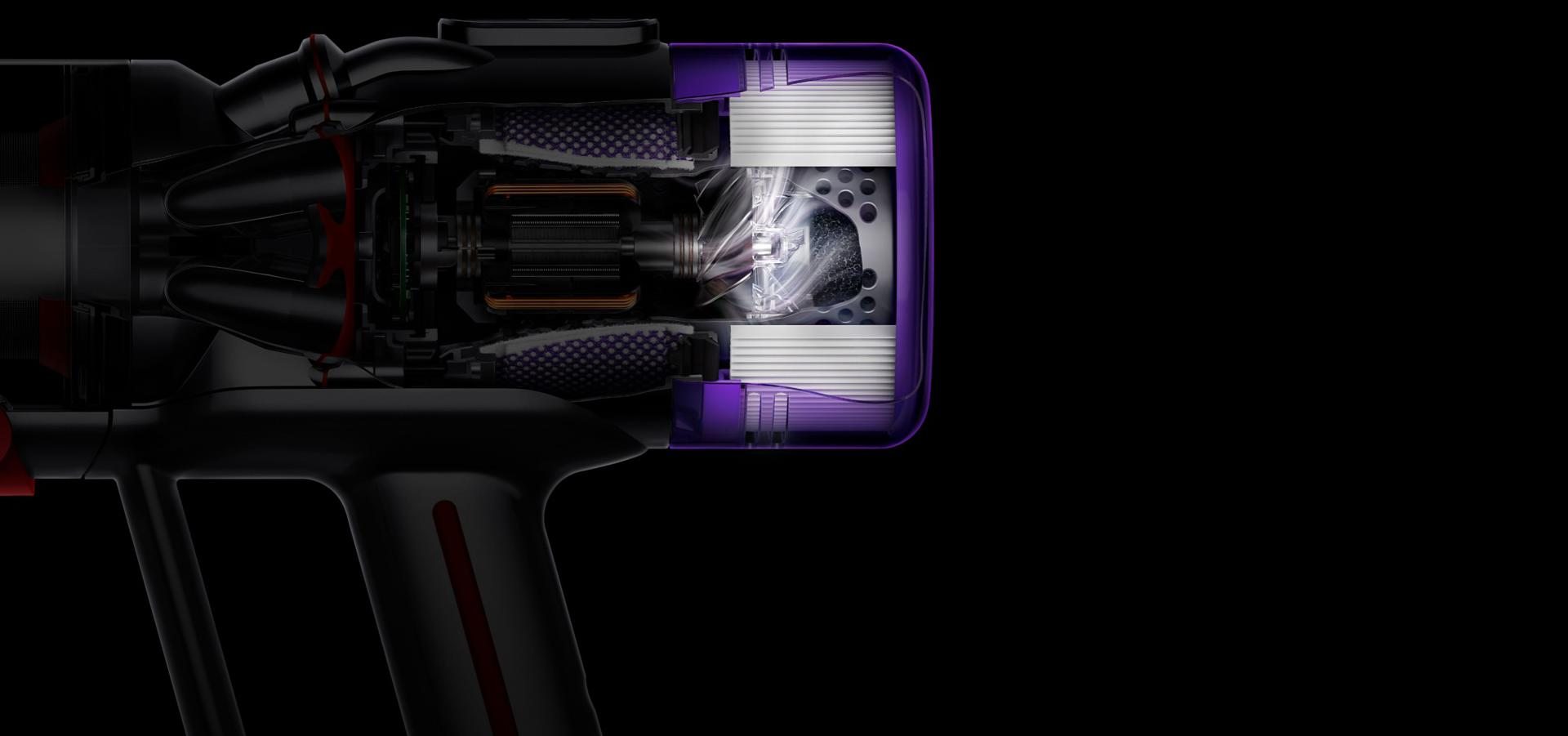 The Dyson Micro 1.5kg's 5 layers of filtration