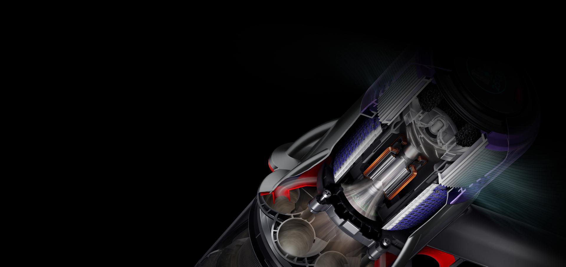 ภาพตัดขวางแสดงให้เห็นมอเตอร์