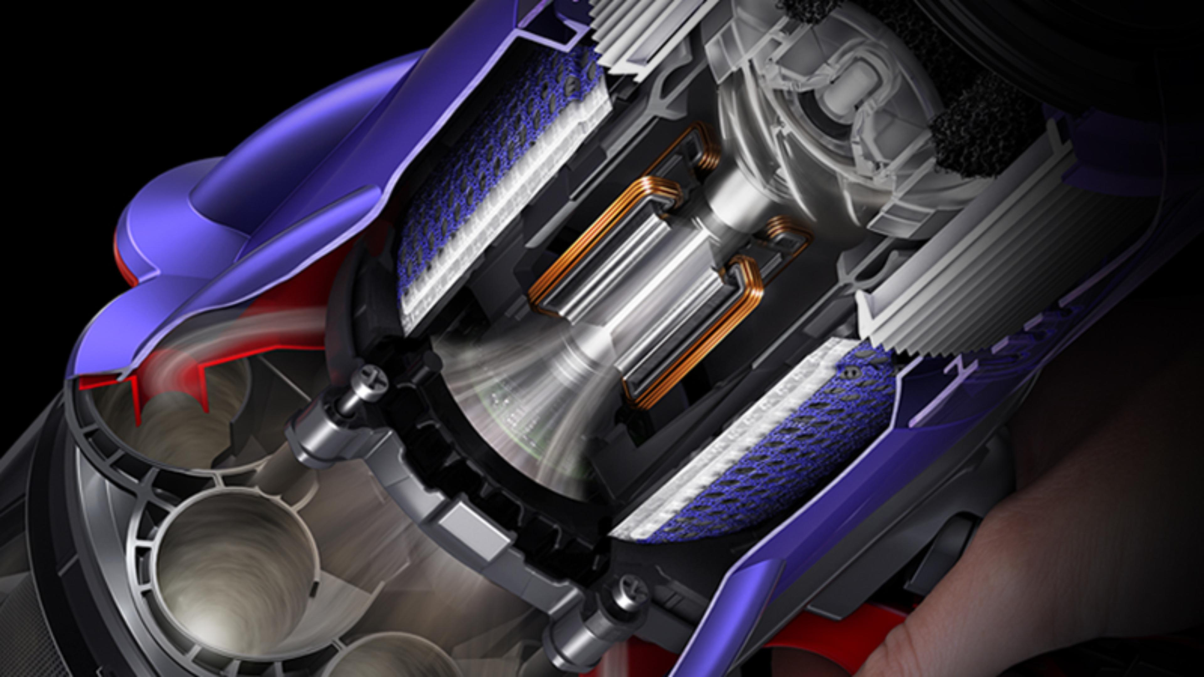Cutaway illustration of the Dyson Hyperdymium motor
