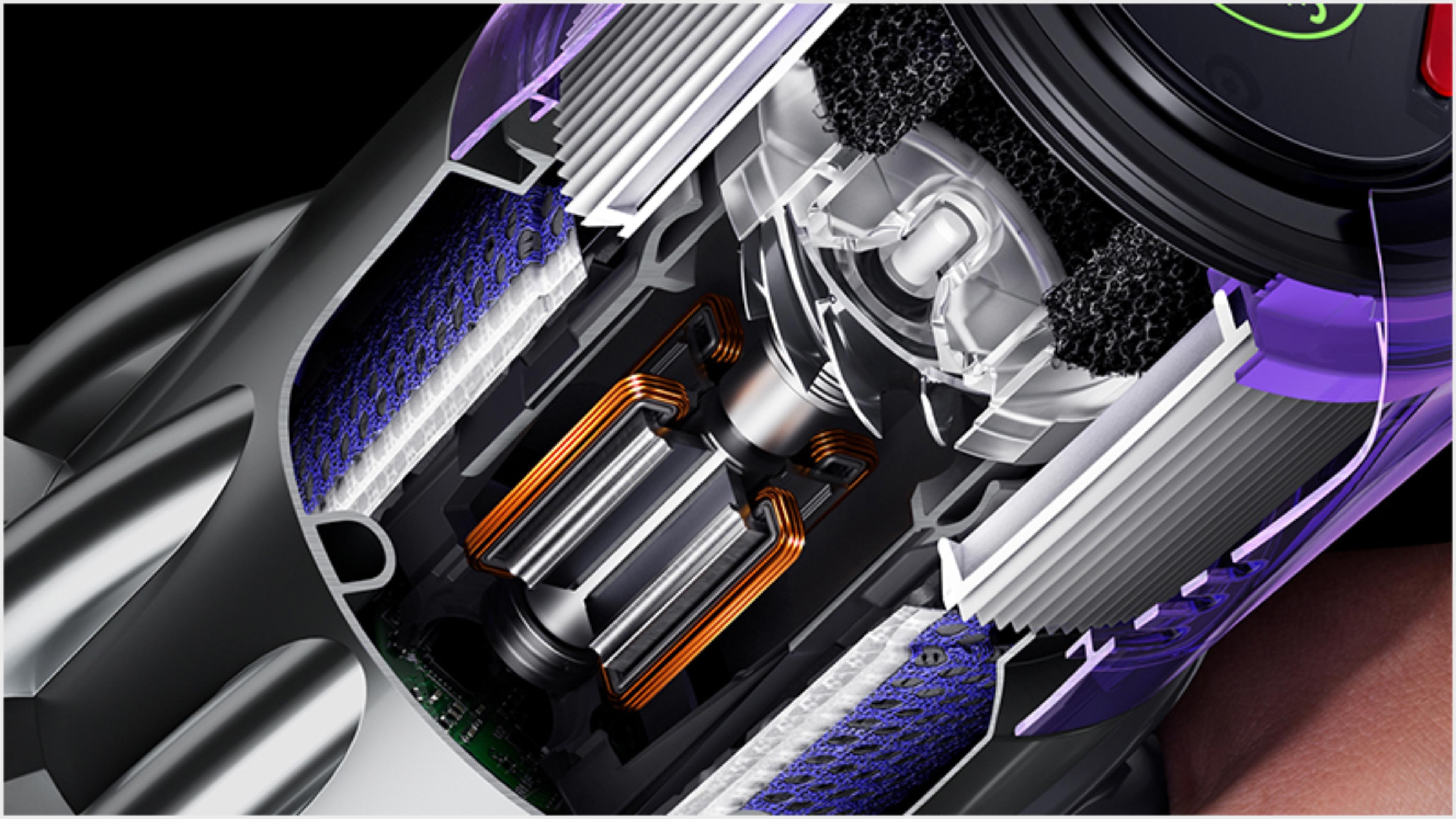 Cutaway illustration of the Dyson Hyperdymium motor