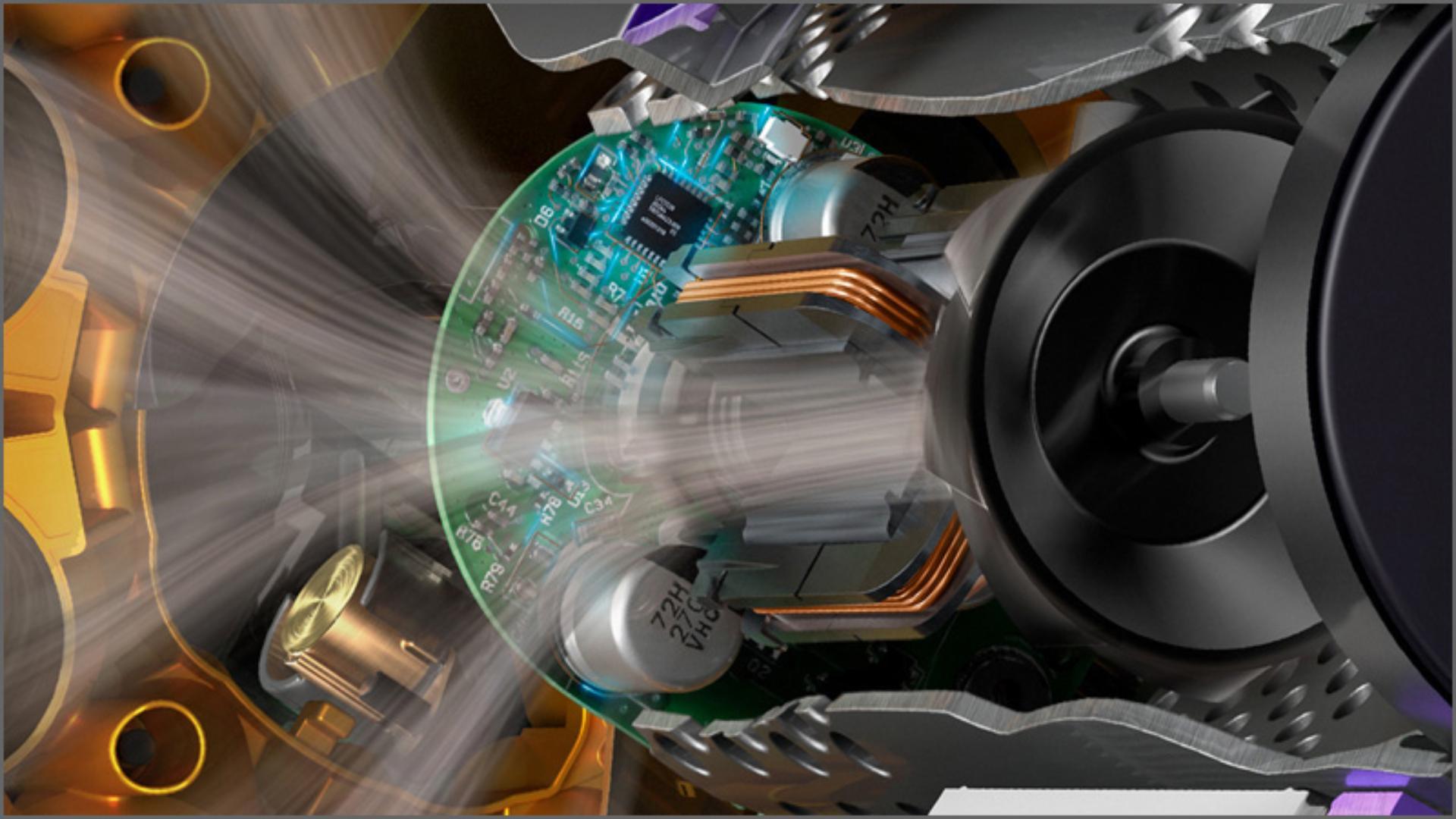 Cutaway image of a Dyson Hyperdymium motor