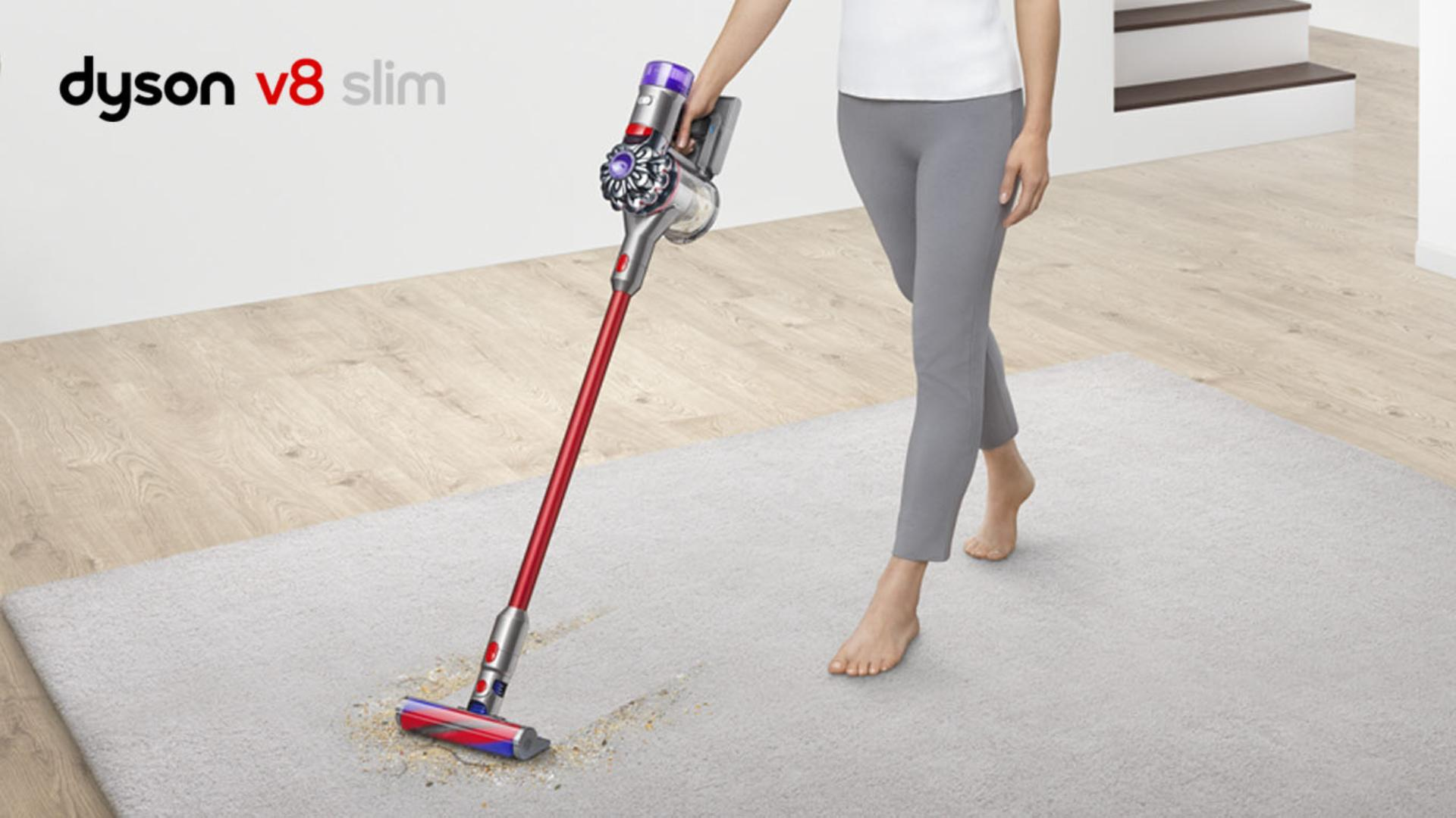 Dyson v8 slim being used on flooring