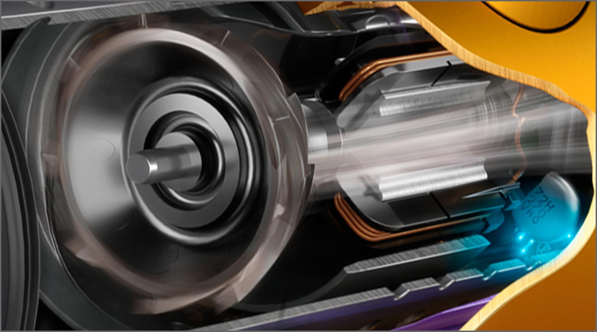 Mặt cắt động cơ Dyson Hyperdymium