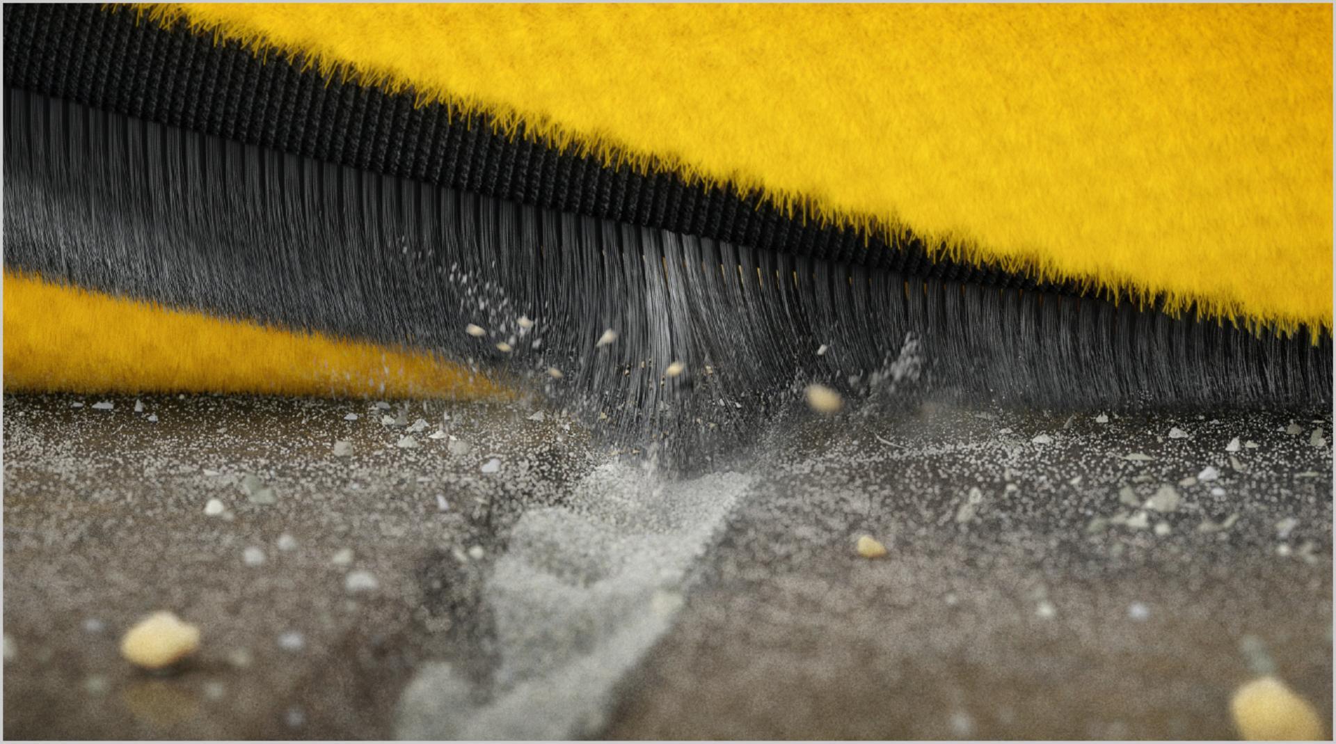 Cận cảnh các sợi carbon của con lăn