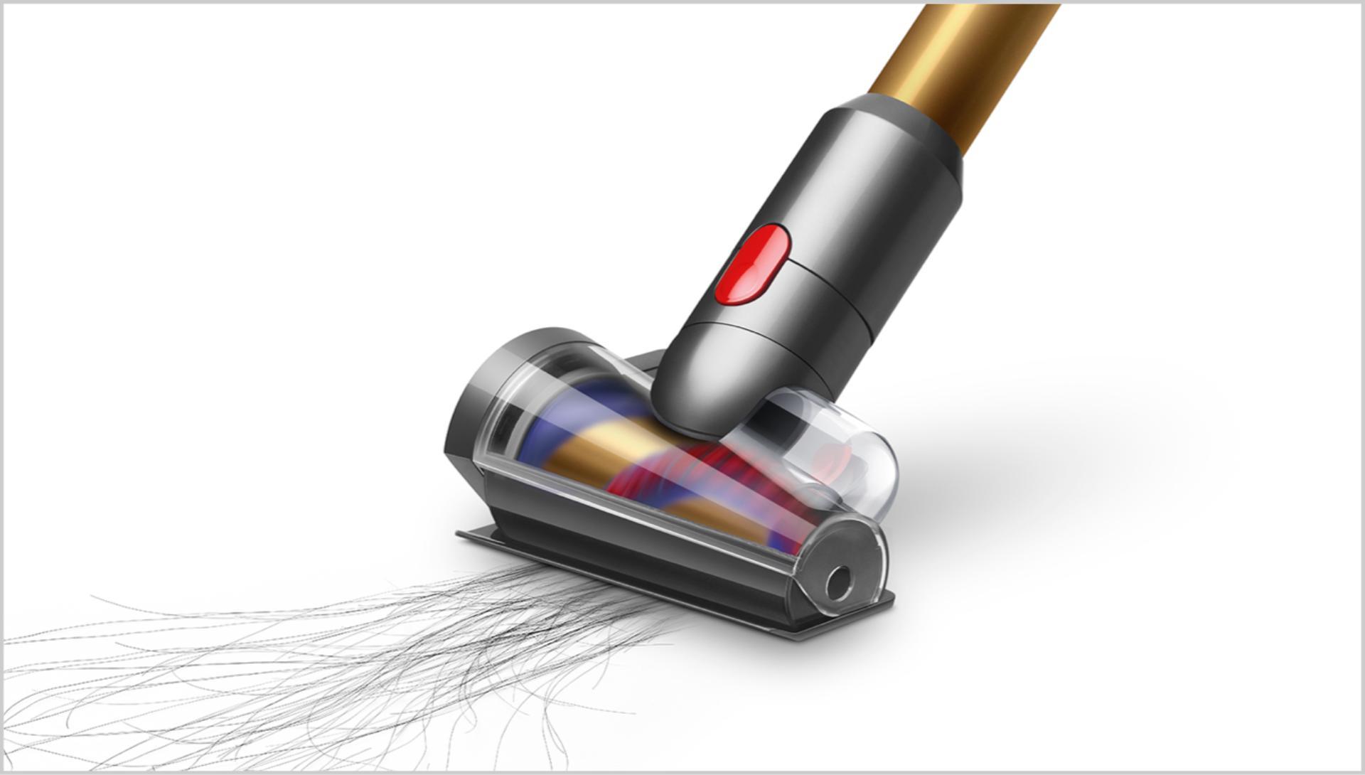 Hair screw tool sucking up long hair