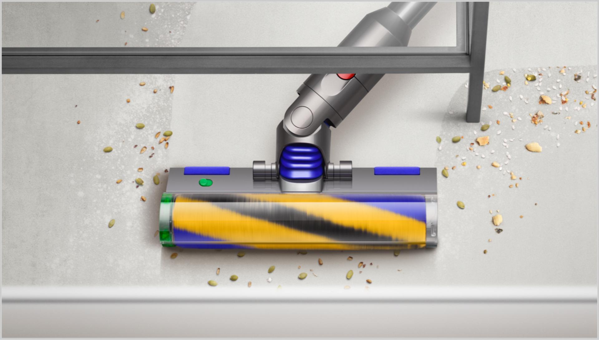먼지를 보여주는 레이저 슬림 플러피 클리너