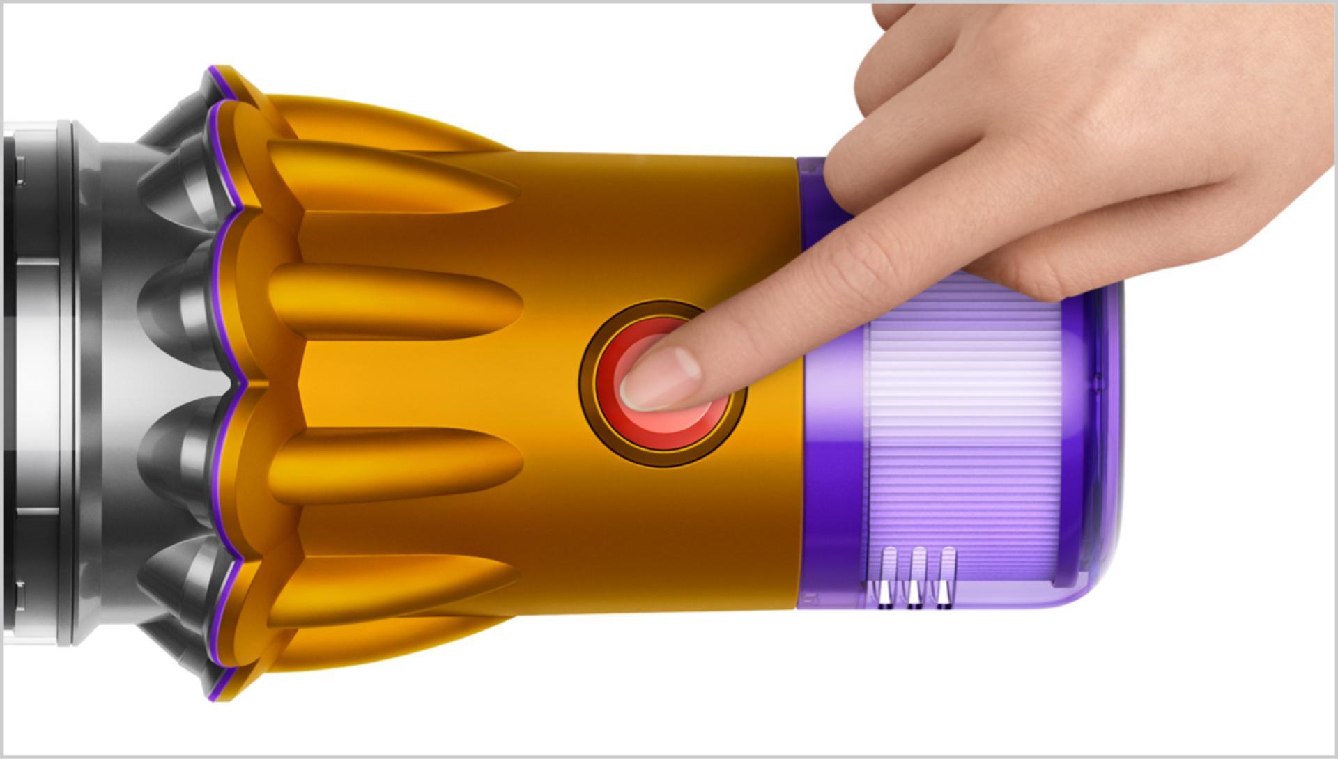 진공 청소기의 전원 버튼 확대 이미지