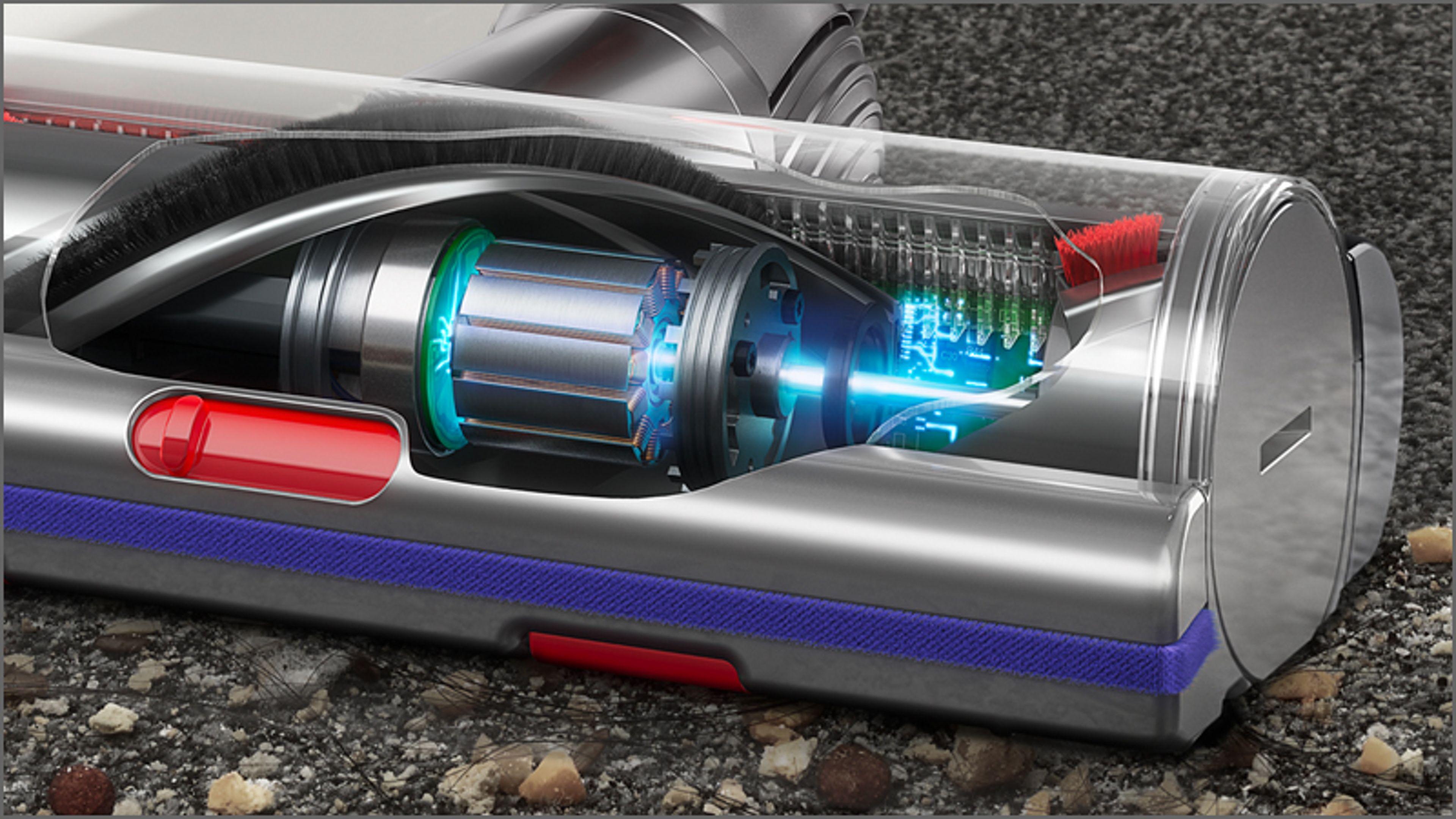 Przekrój elektroszczotki Torque Drive z technologią Anti-tangle