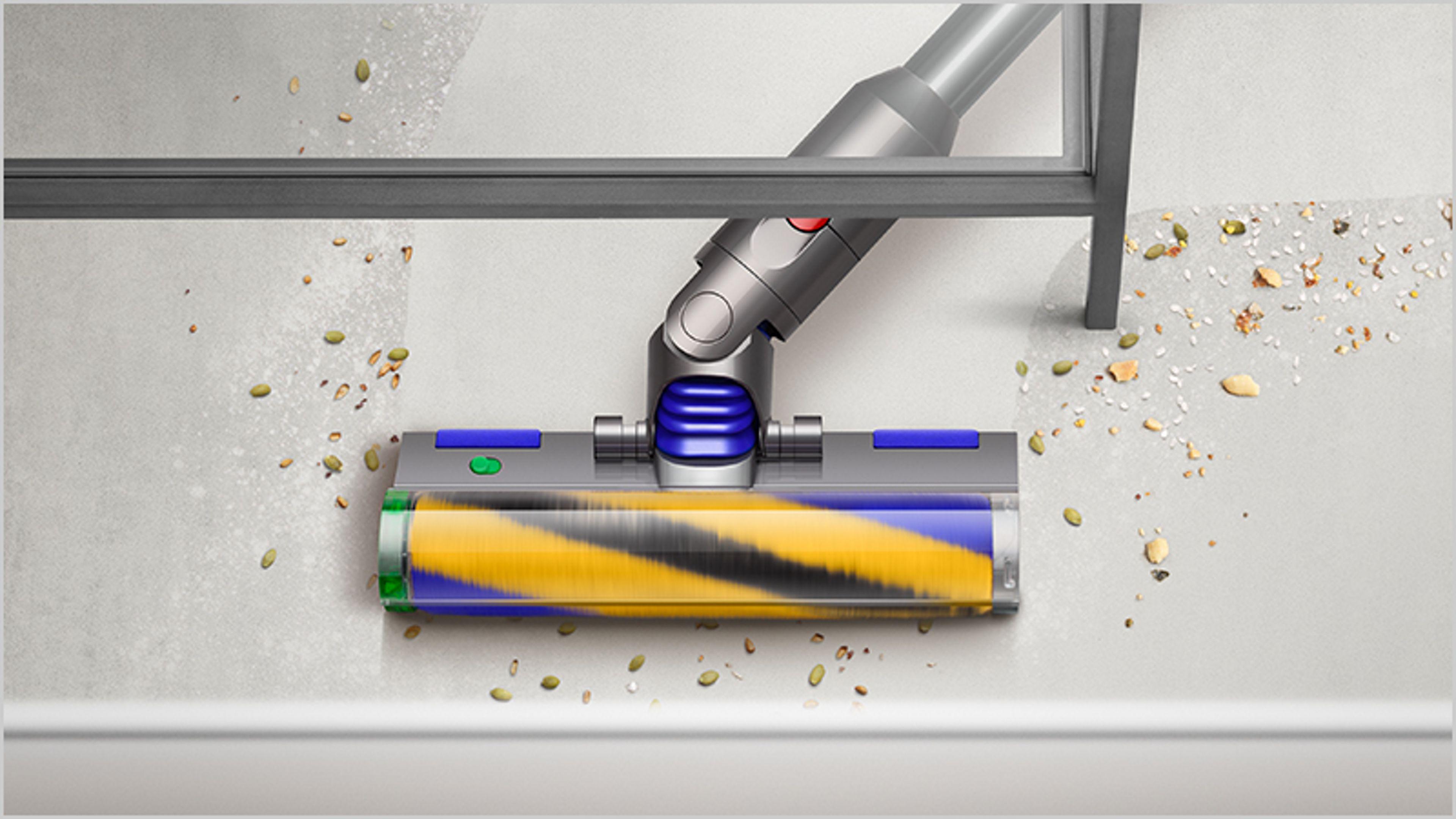 Elektroszczotka Laser Slim Fluffy uwidacznia kurz