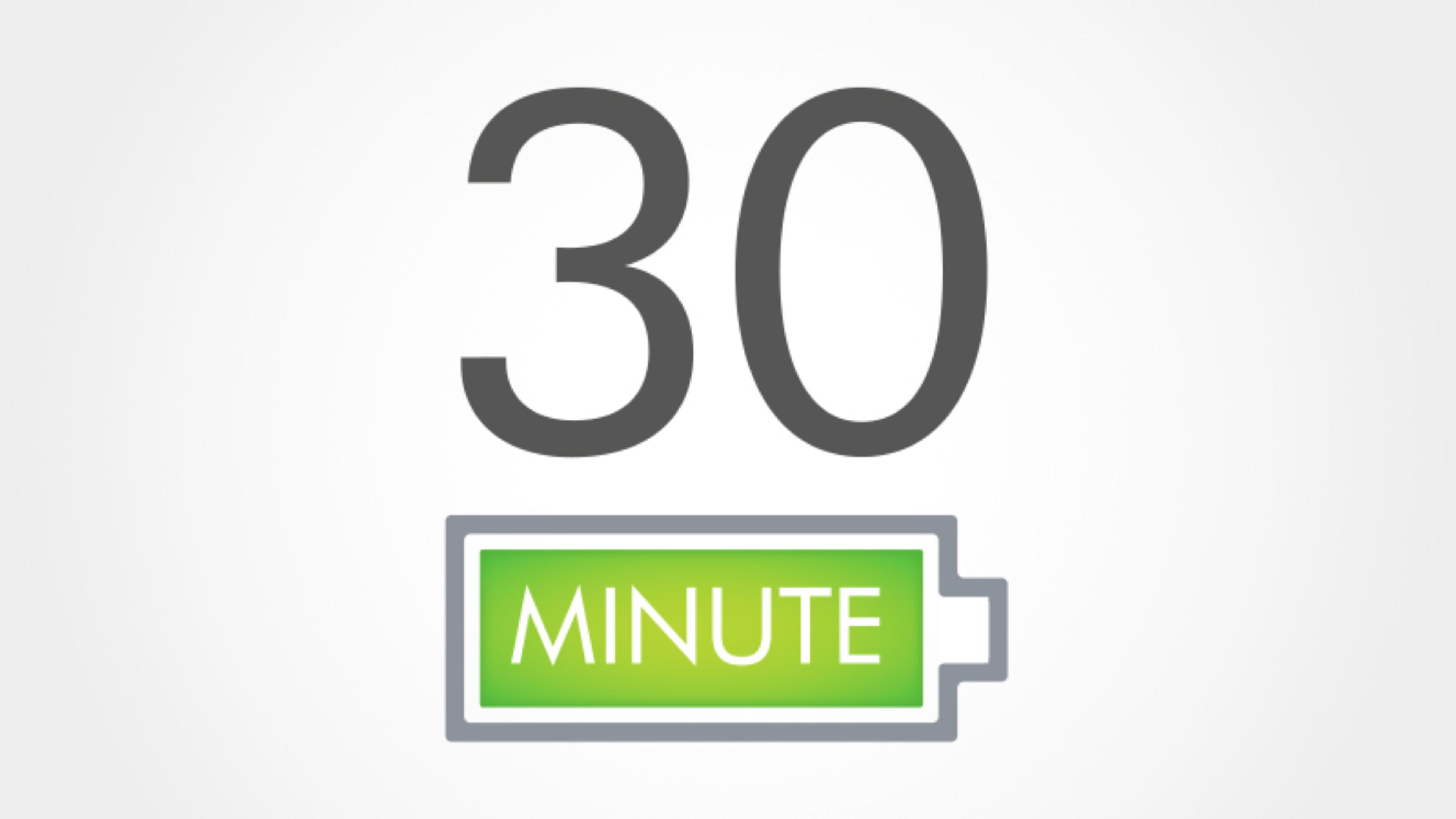최대 30분까지 변함없는 흡입력.¹