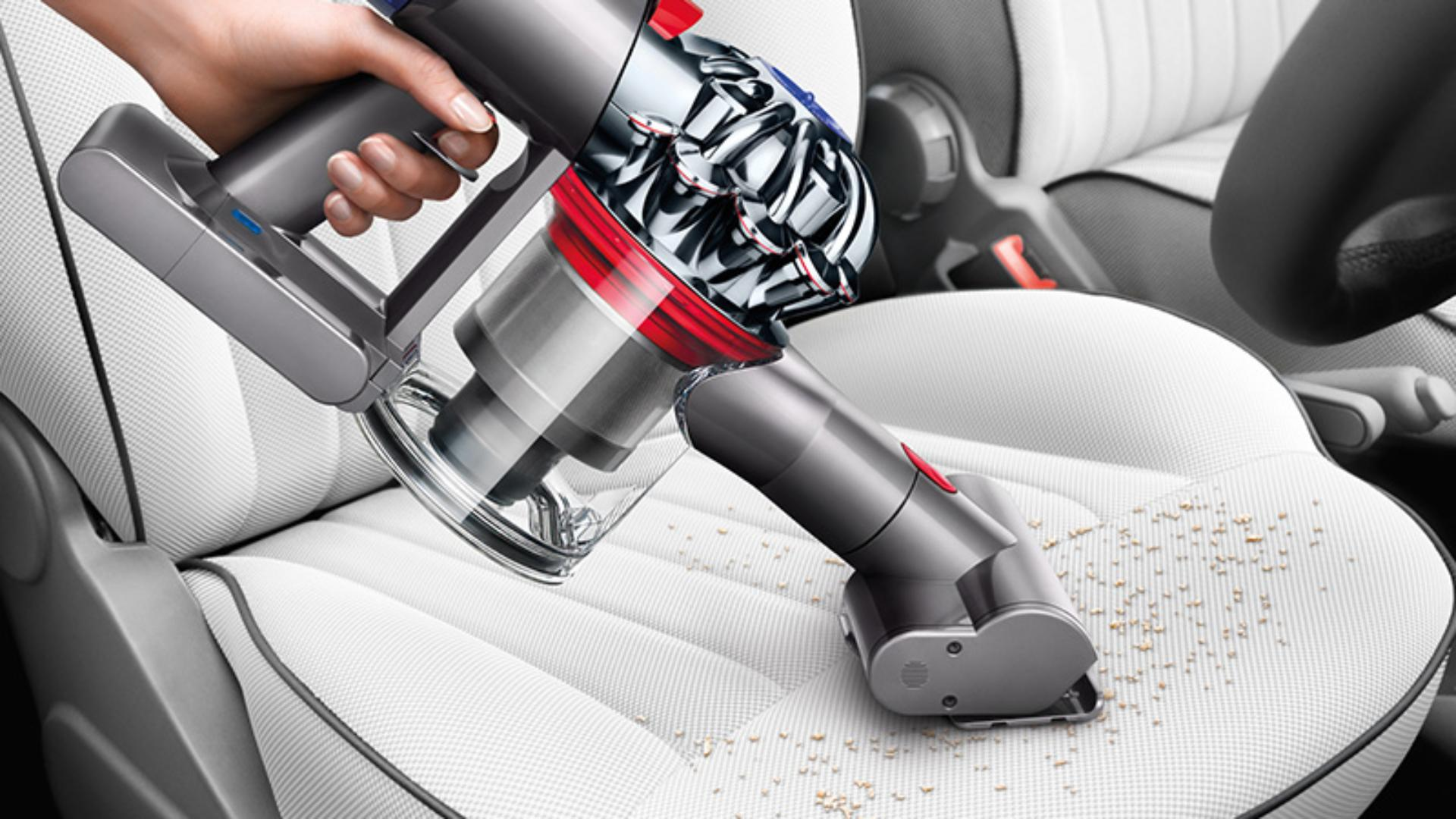 Using Dyson vacuum on car seat