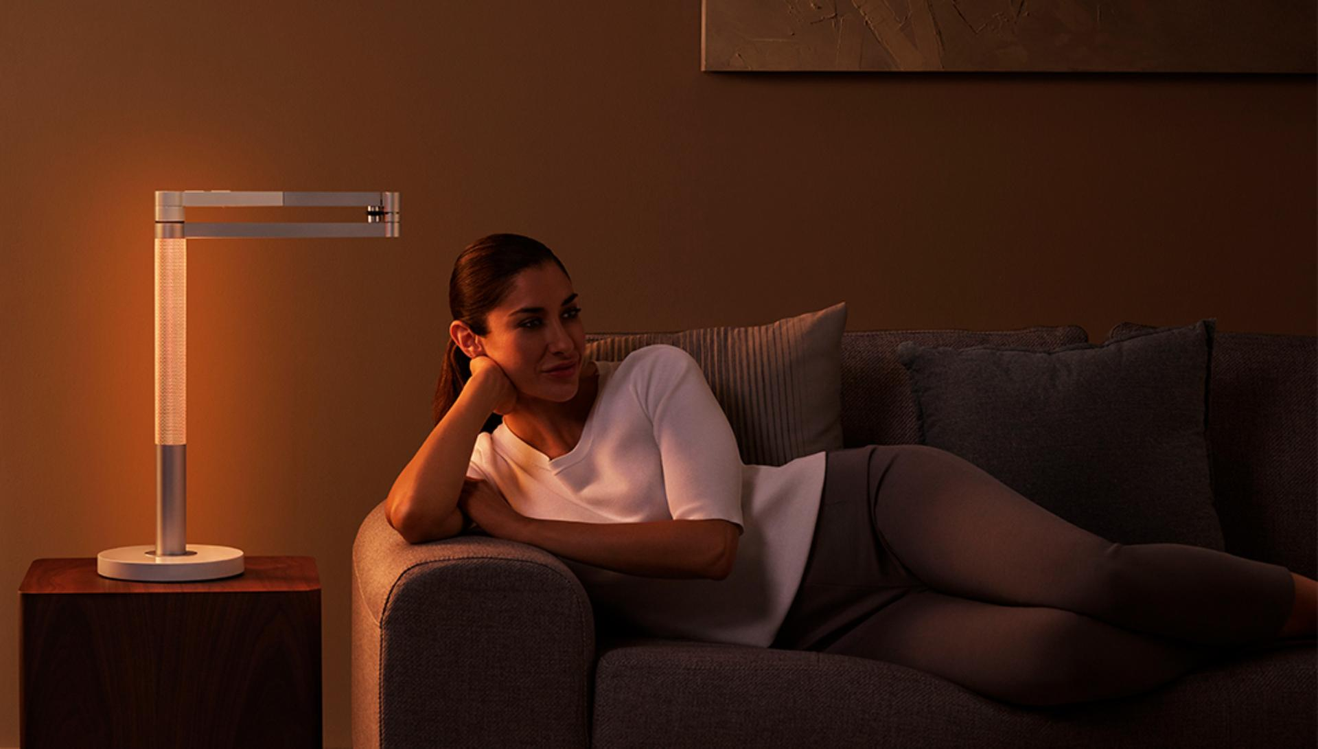 Woman relaxing with Relax mode