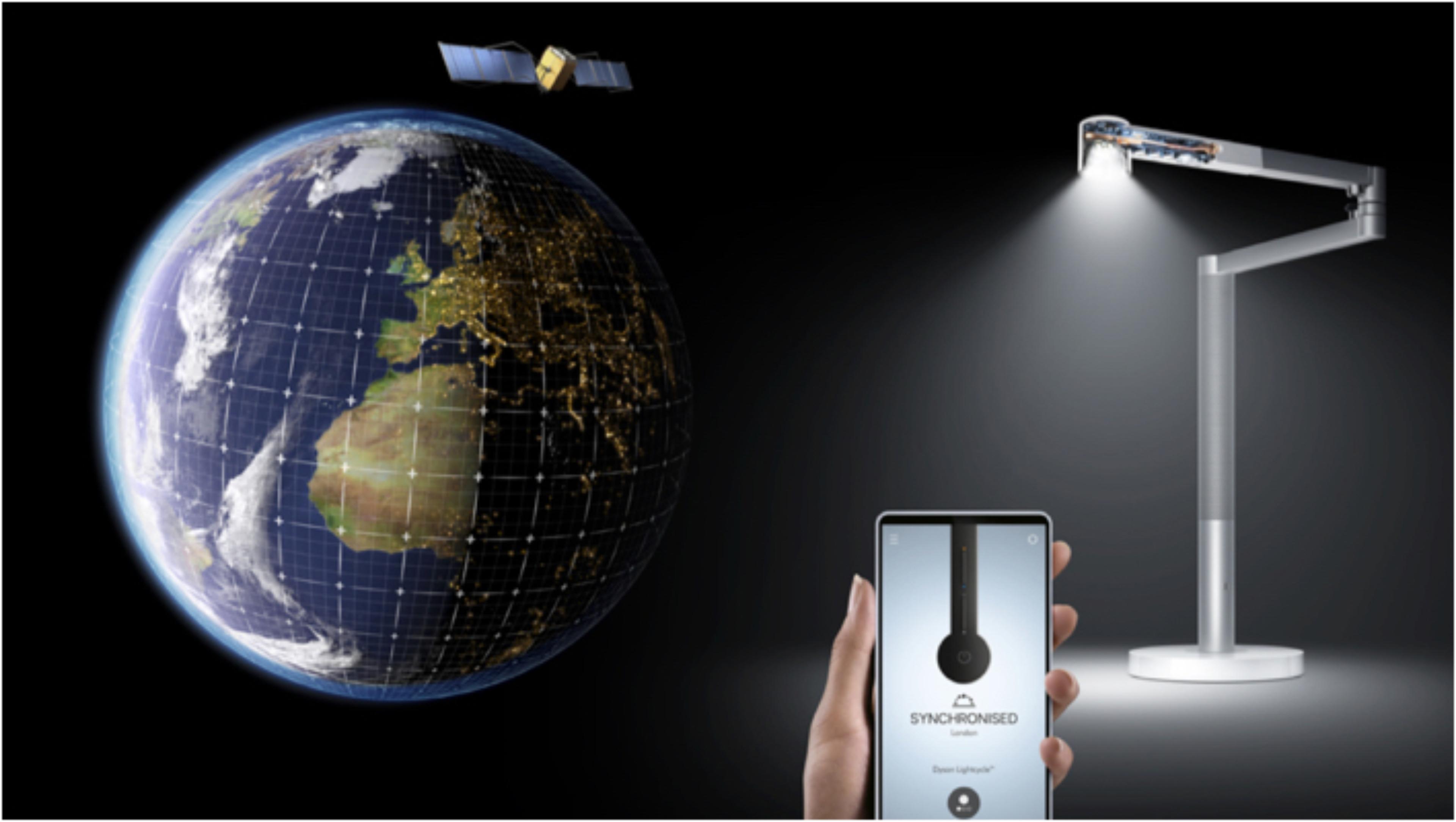 在Dyson Link應用程式中,使用全球定位來作智能日光追踪演算法