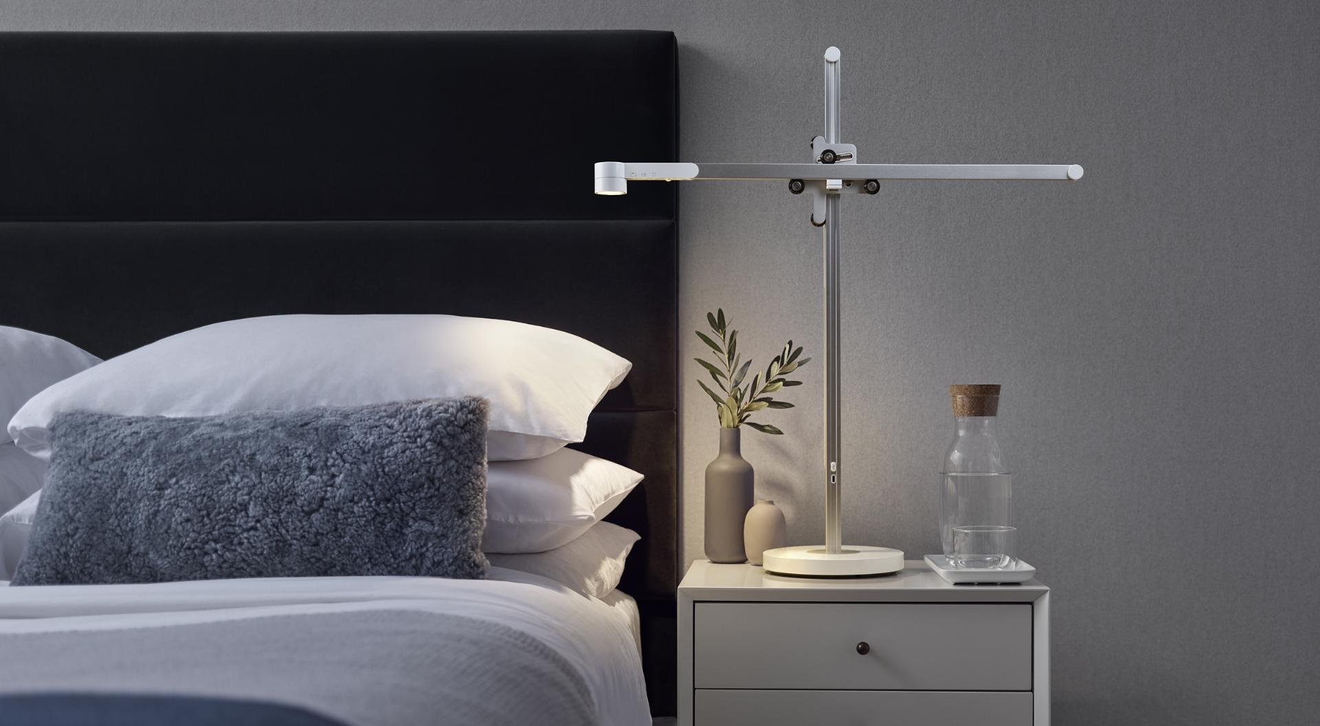 Dyson Lightcycle task light on a bedside table
