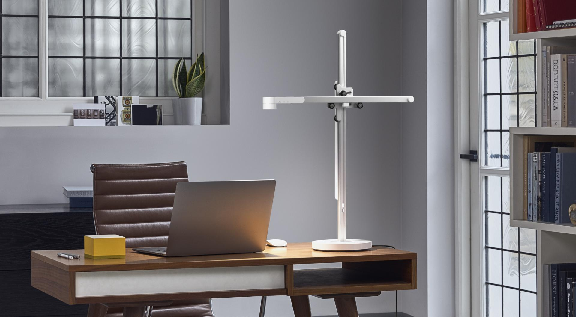Dyson Lightcycle task light on a stylish desk