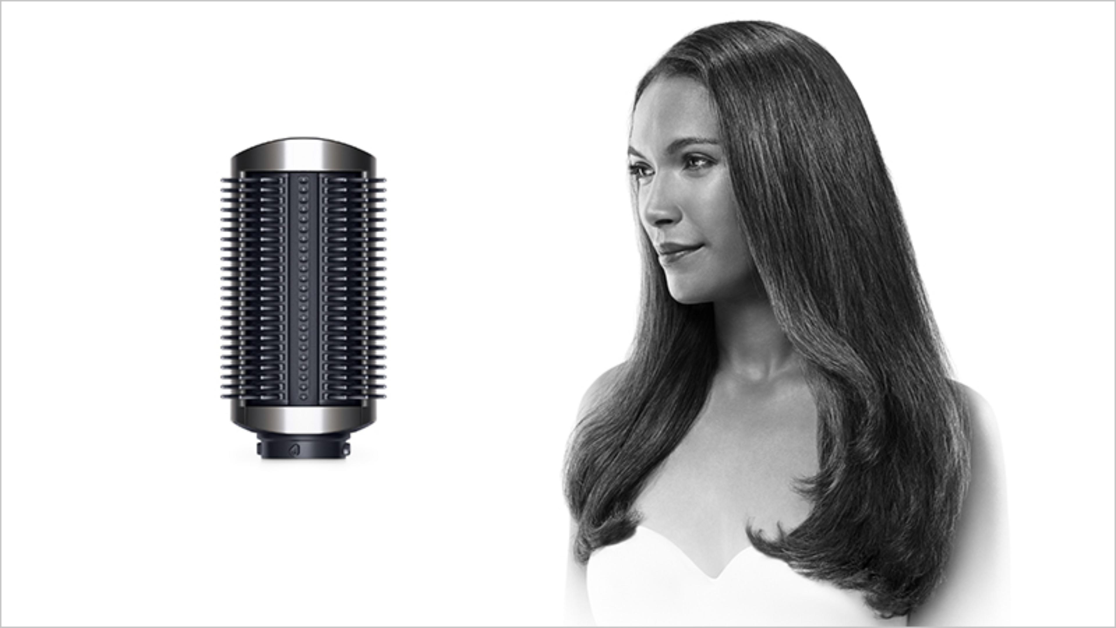 Firm smoothing brush with straight-haired model