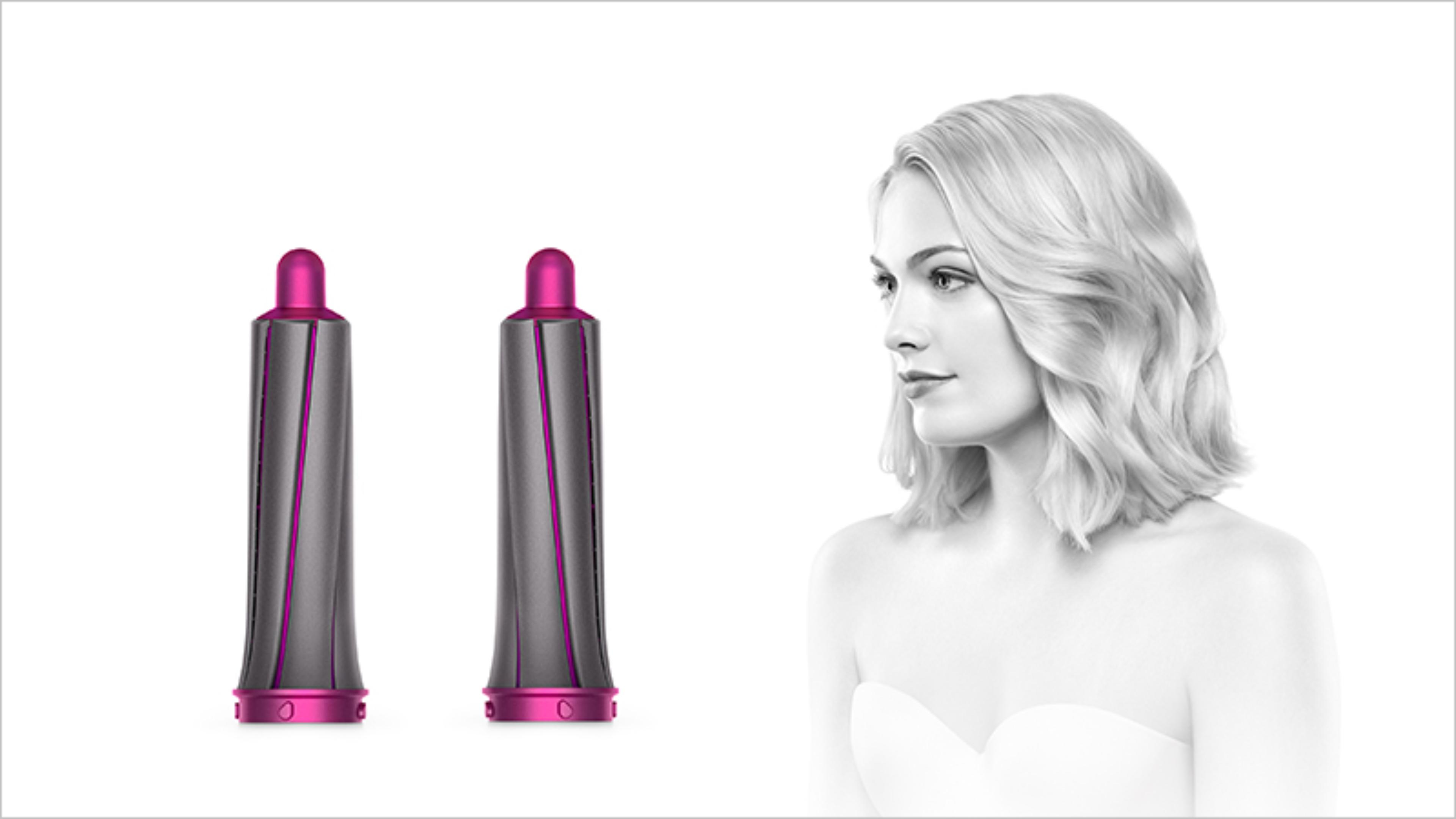 30mm Airwrap barrels with curly haired model