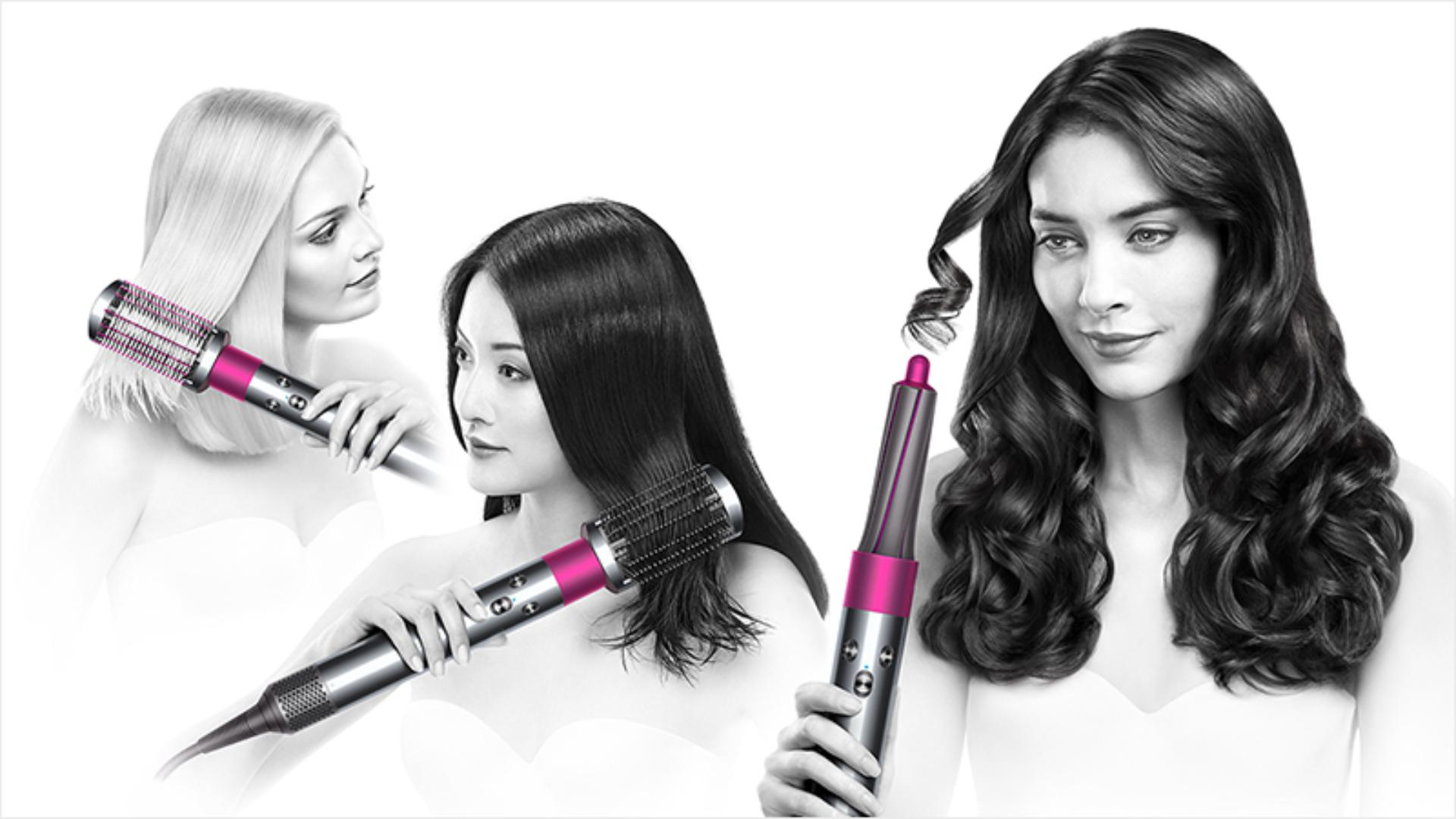Three Dyson models using the Dyson Airwrap™ styler