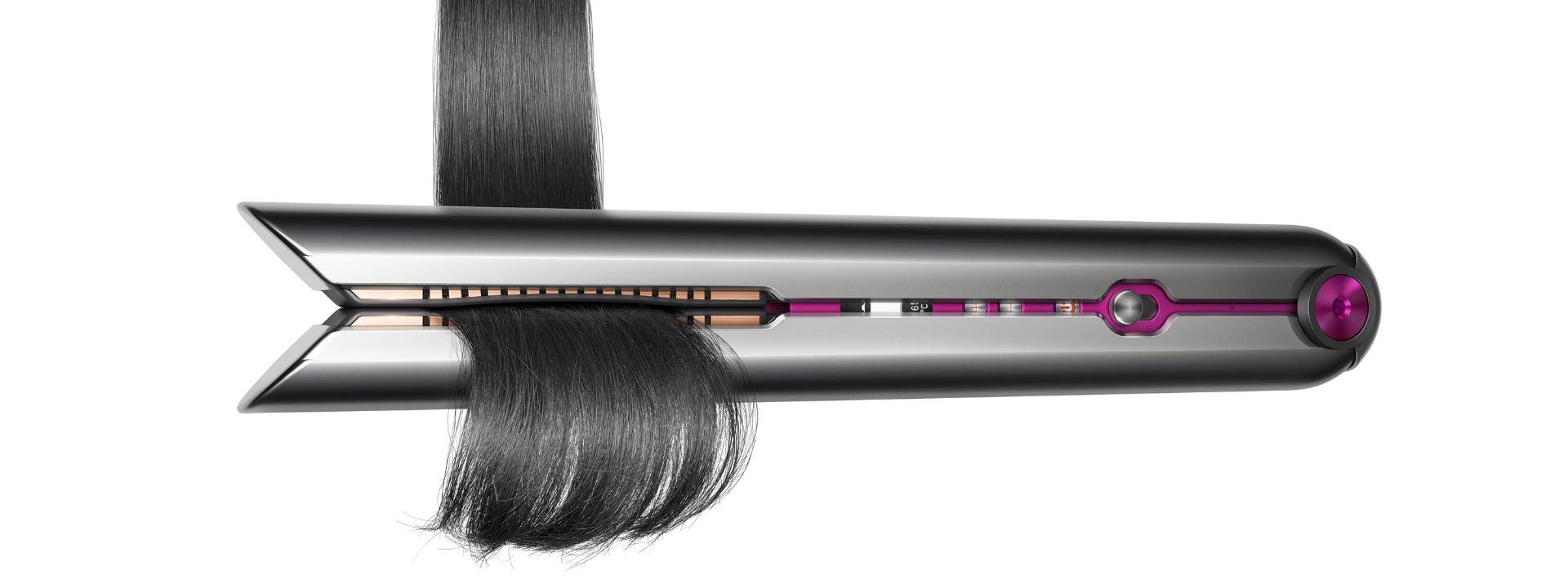 Dyson Corrale™ straightener using flexing plate technology