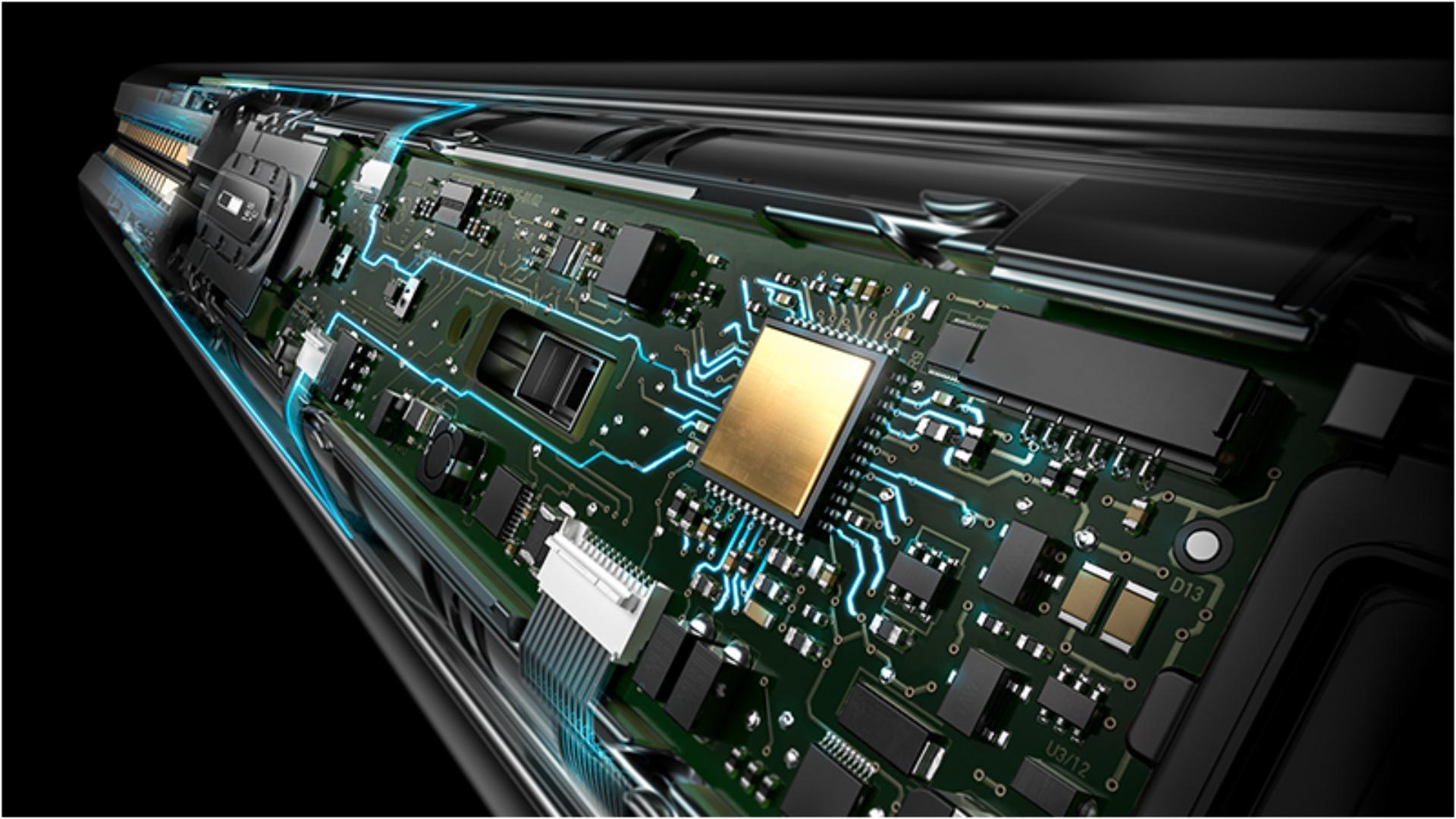 Detailní rentgenový snímek snímacího systému