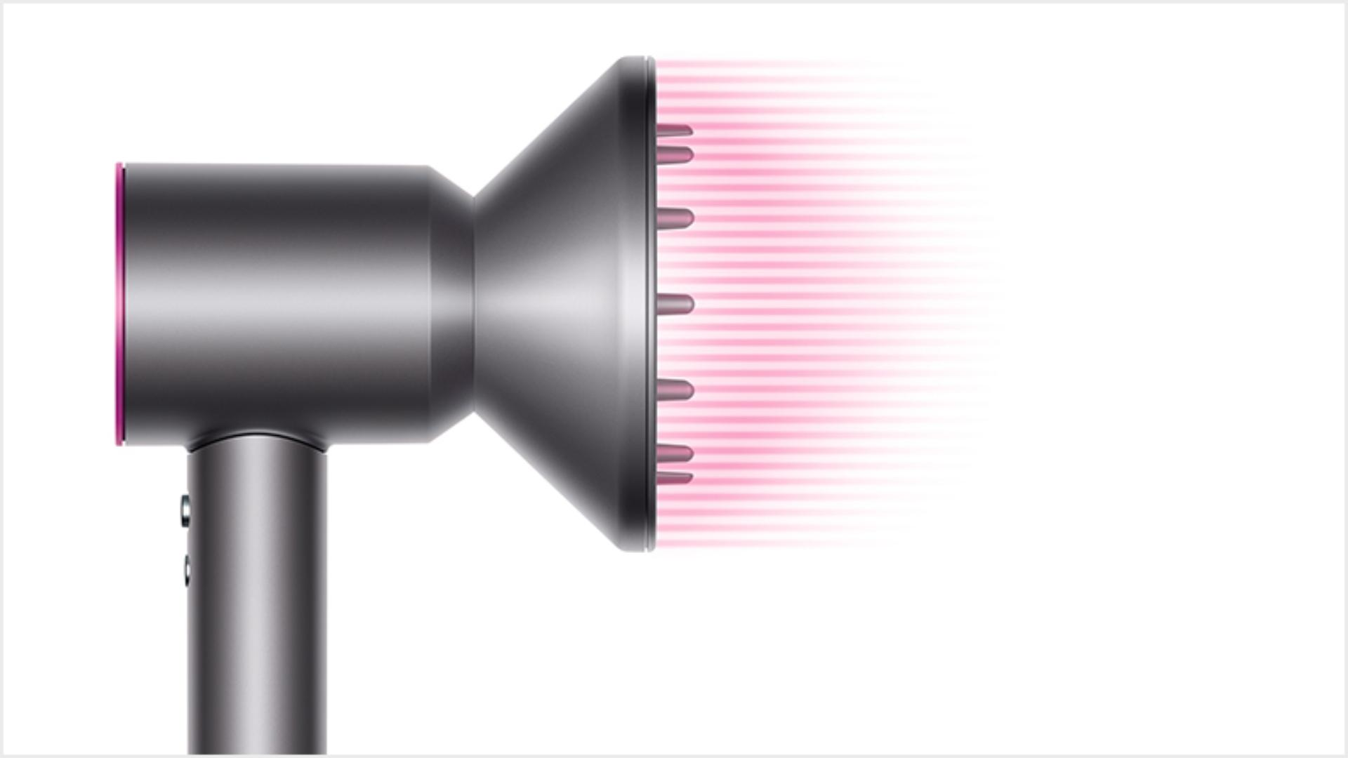 Dyson Supersonic™ hair dryer Black/Nickel with re-engineered Diffuser attached