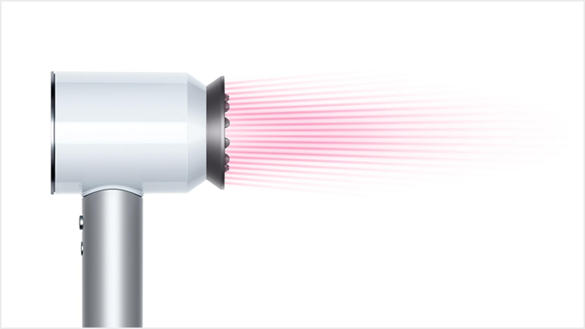 Dyson Supersonic™ hair dryer White/Silver with Gentle air attachment