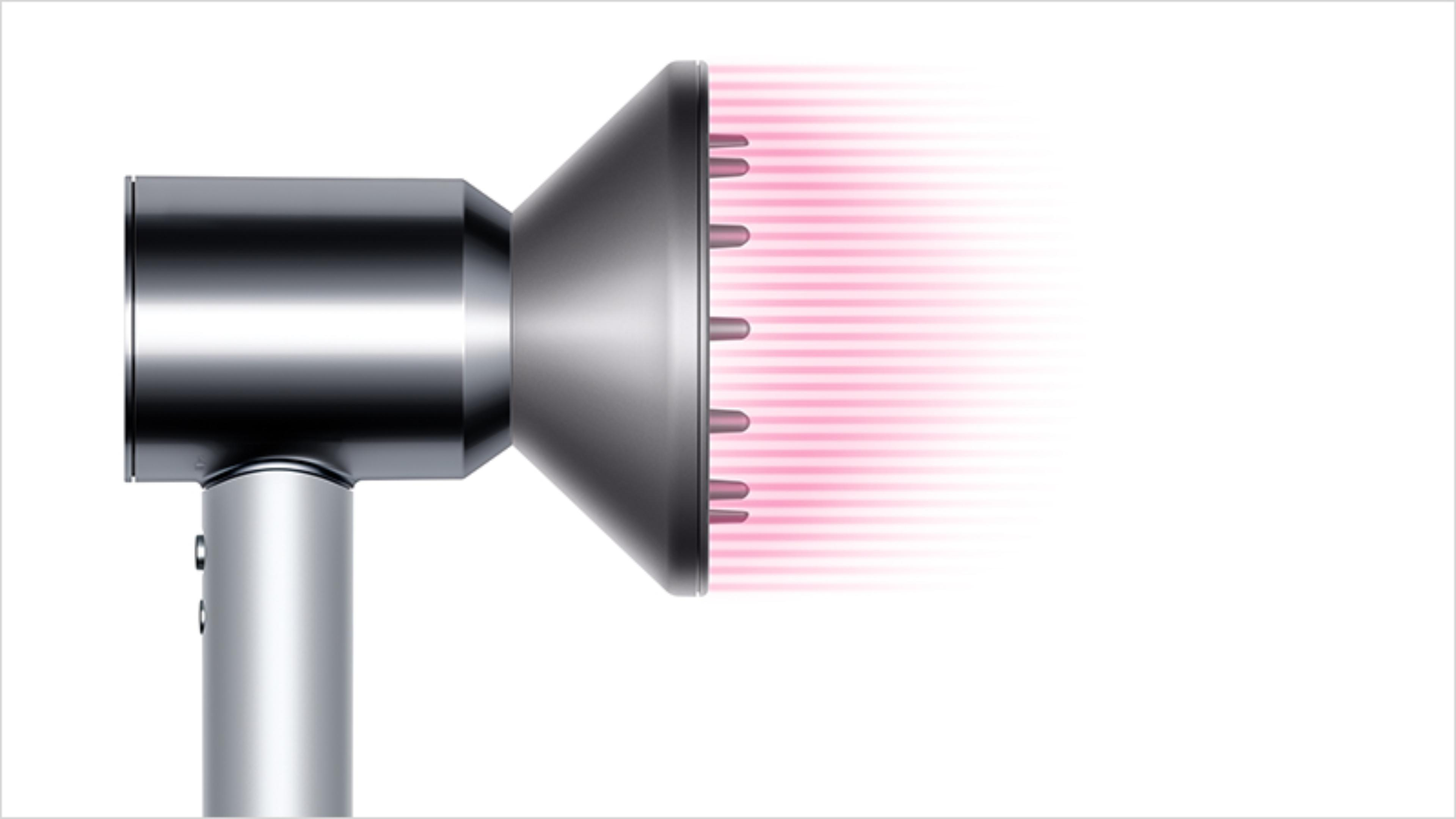 Dyson Supersonic™ hair dryer Professional edition with re-engineered Diffuser attached