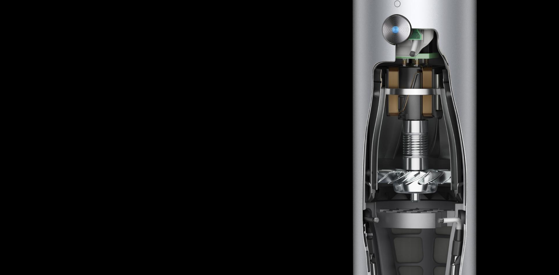 다이슨 디지털 모터 V9의 단면도
