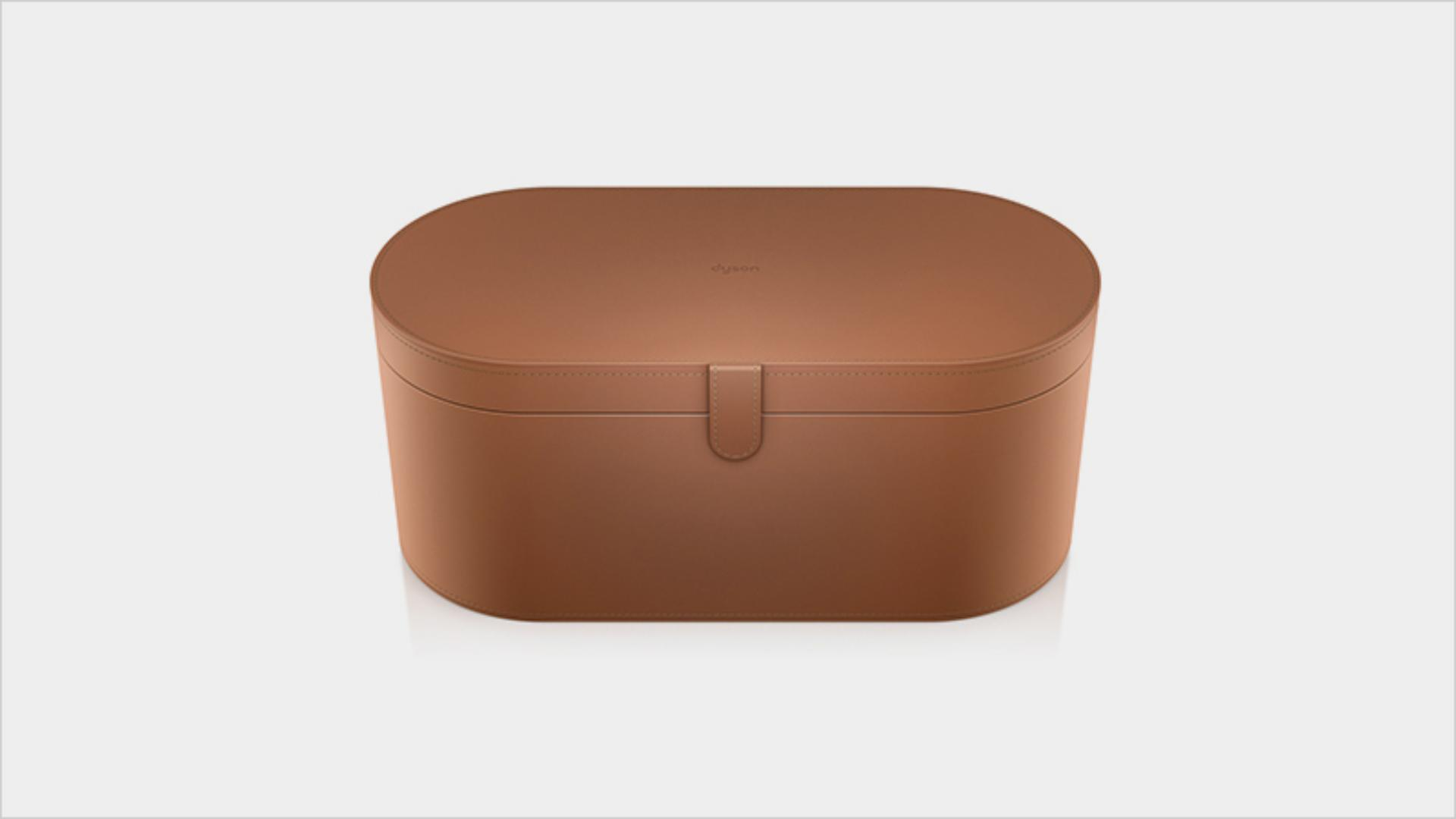Large tan storage case