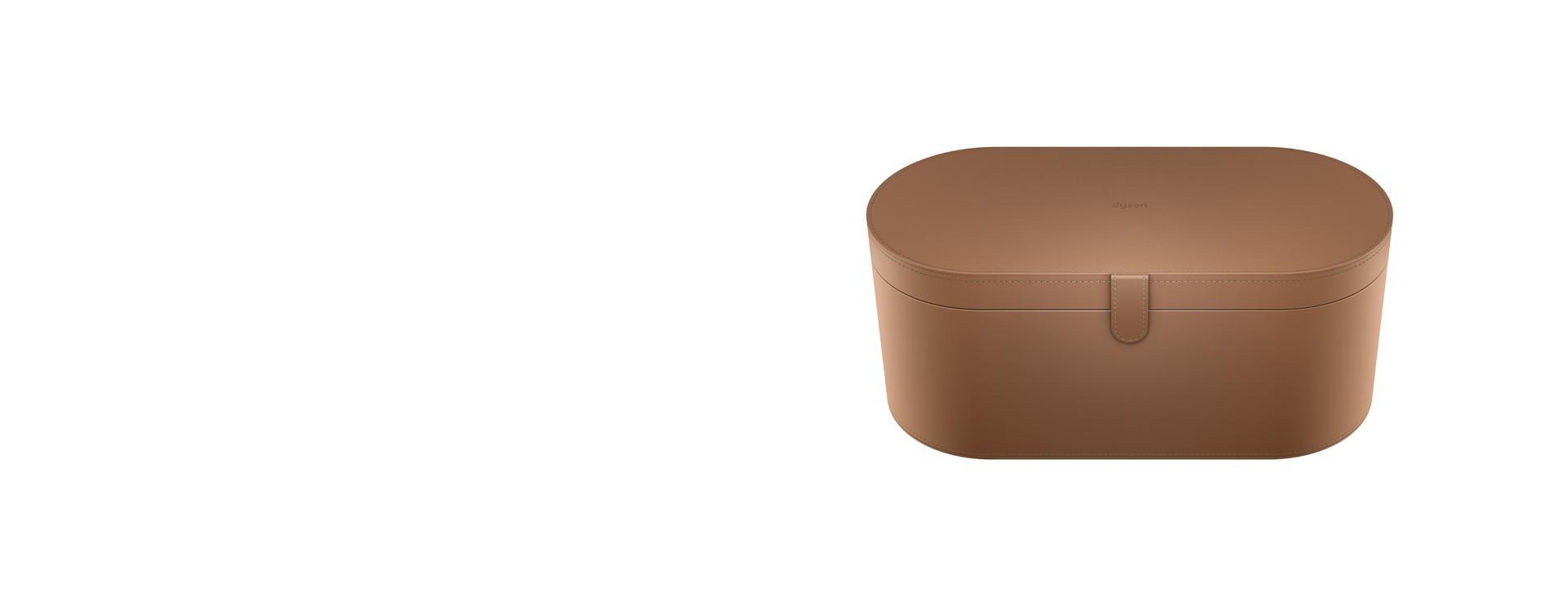 Large tan storage case
