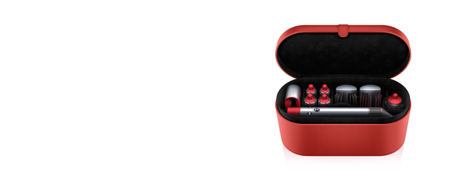 Red edition Dyson airwrap with case