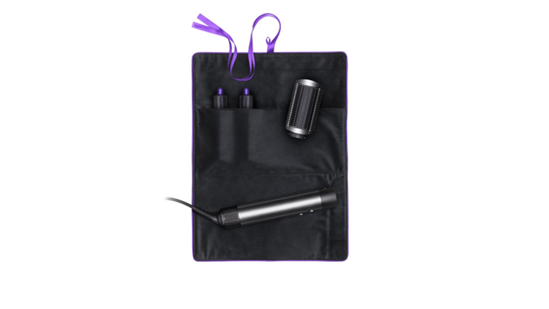 Black and purple Airwrap travel pouch