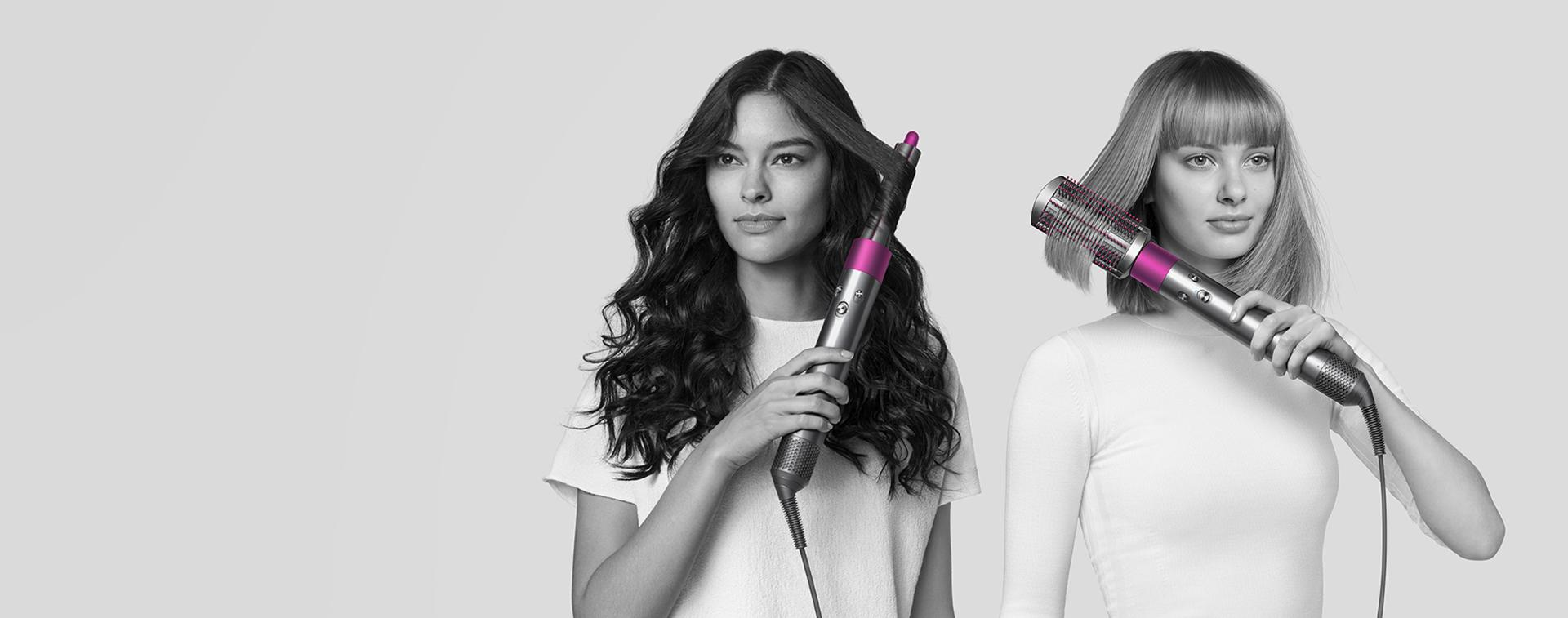 Models using the Dyson Airwrap styler