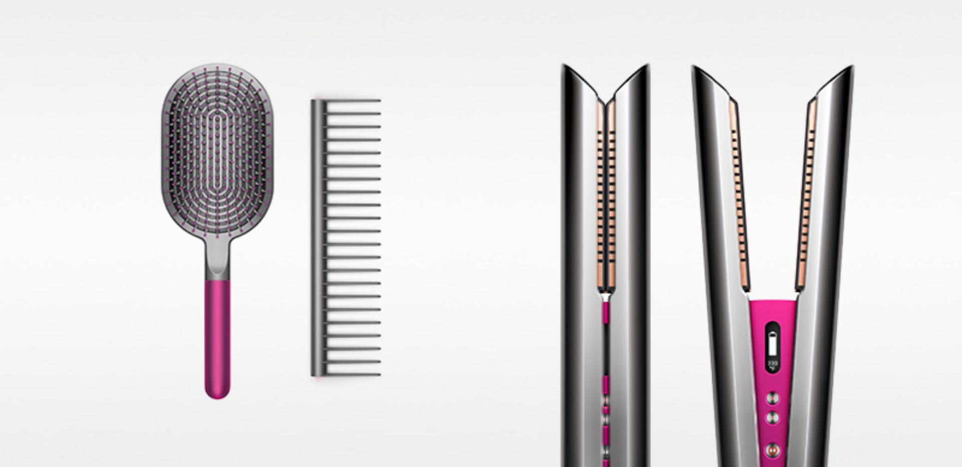 Dyson Corrale™ straightener with Dyson-designed styling set
