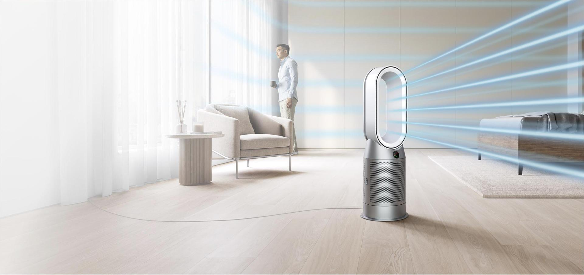 Dyson purifier vacuum in a room