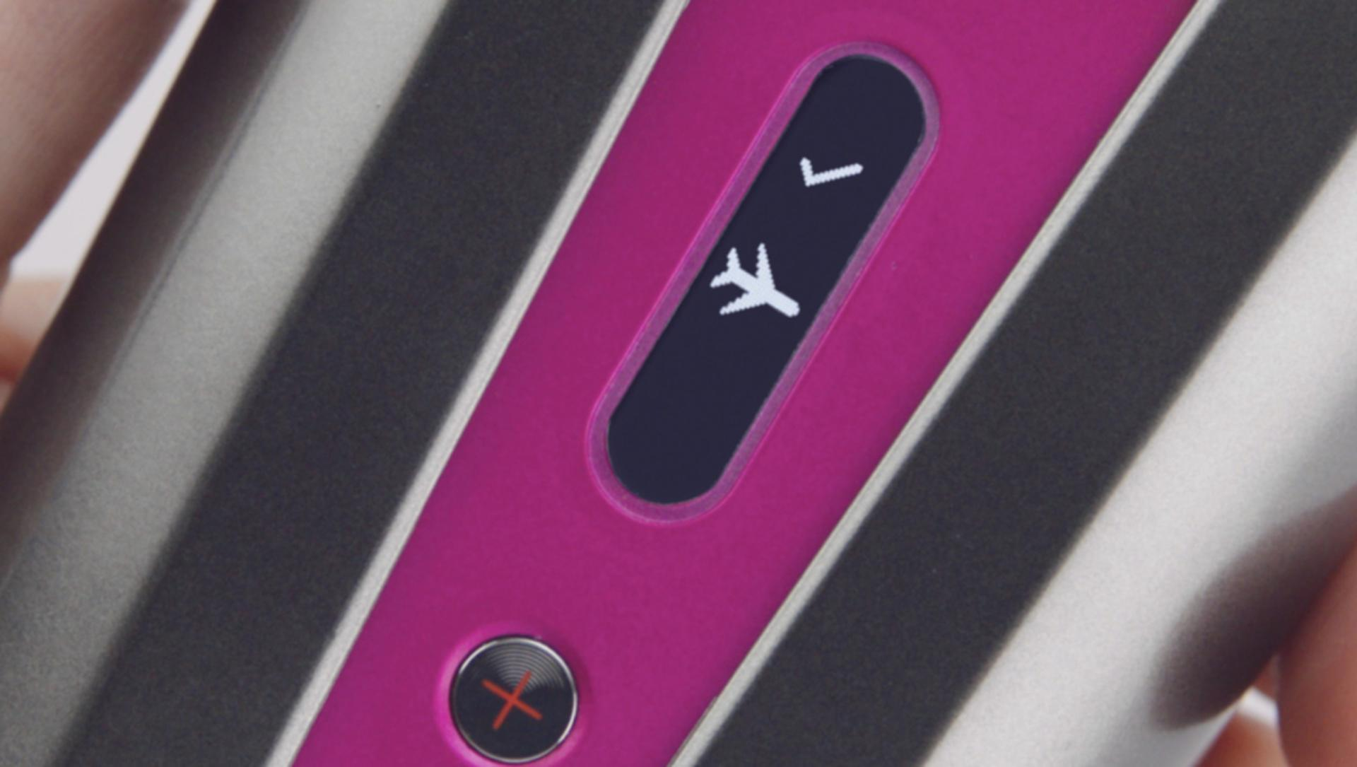 Aeroplane icon on screen