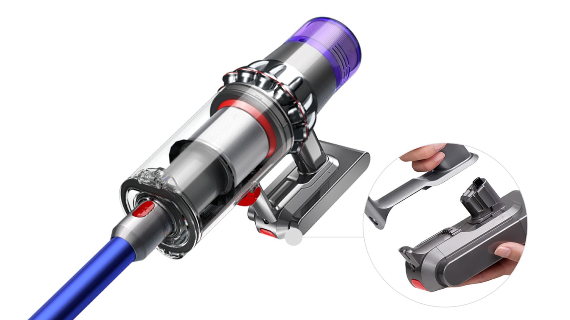 Bepattintható tartalék akkumulátor Dyson V11 (2020-as modellekhez) vezeték nélküli porszívóhoz