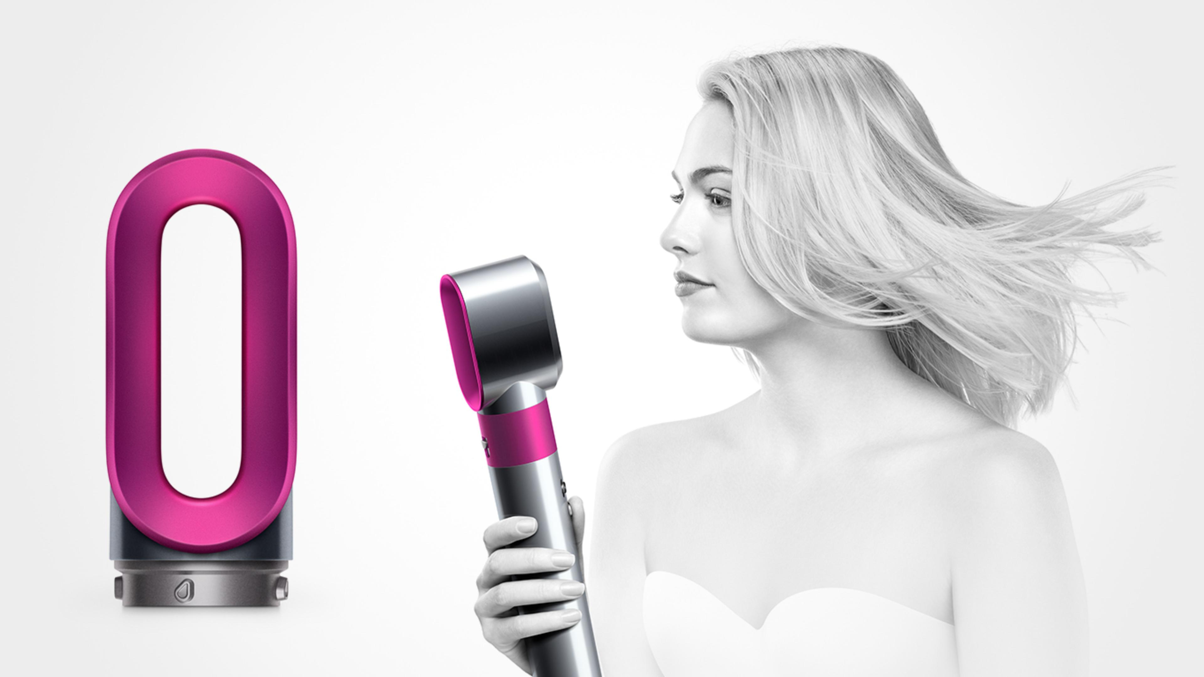 Pre-styling dryer with model using product